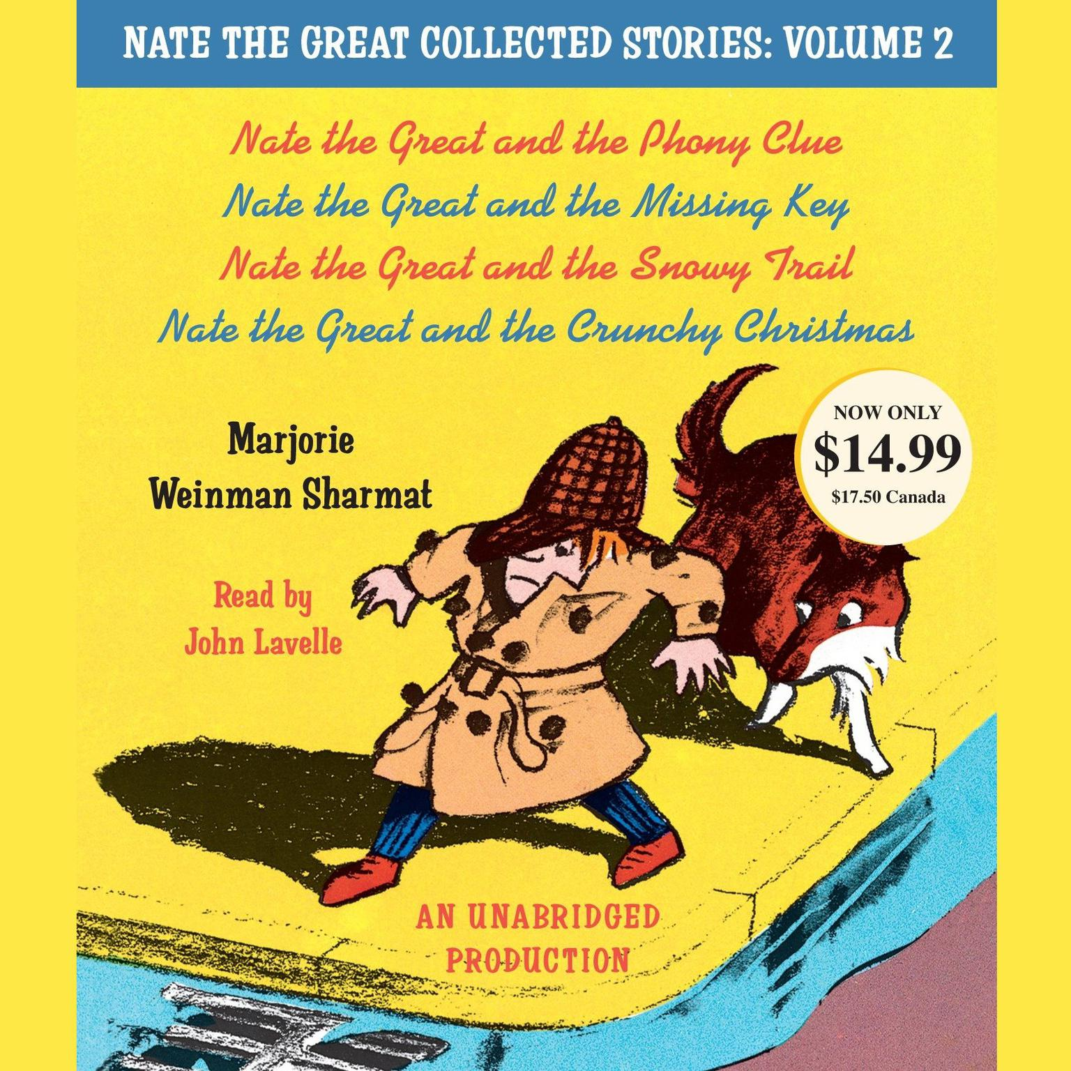 Printable Nate the Great Collected Stories, Vol. 2: Nate the Great and the Phony Clue; Nate the Great and the Missing Key; Nate the Audiobook Cover Art