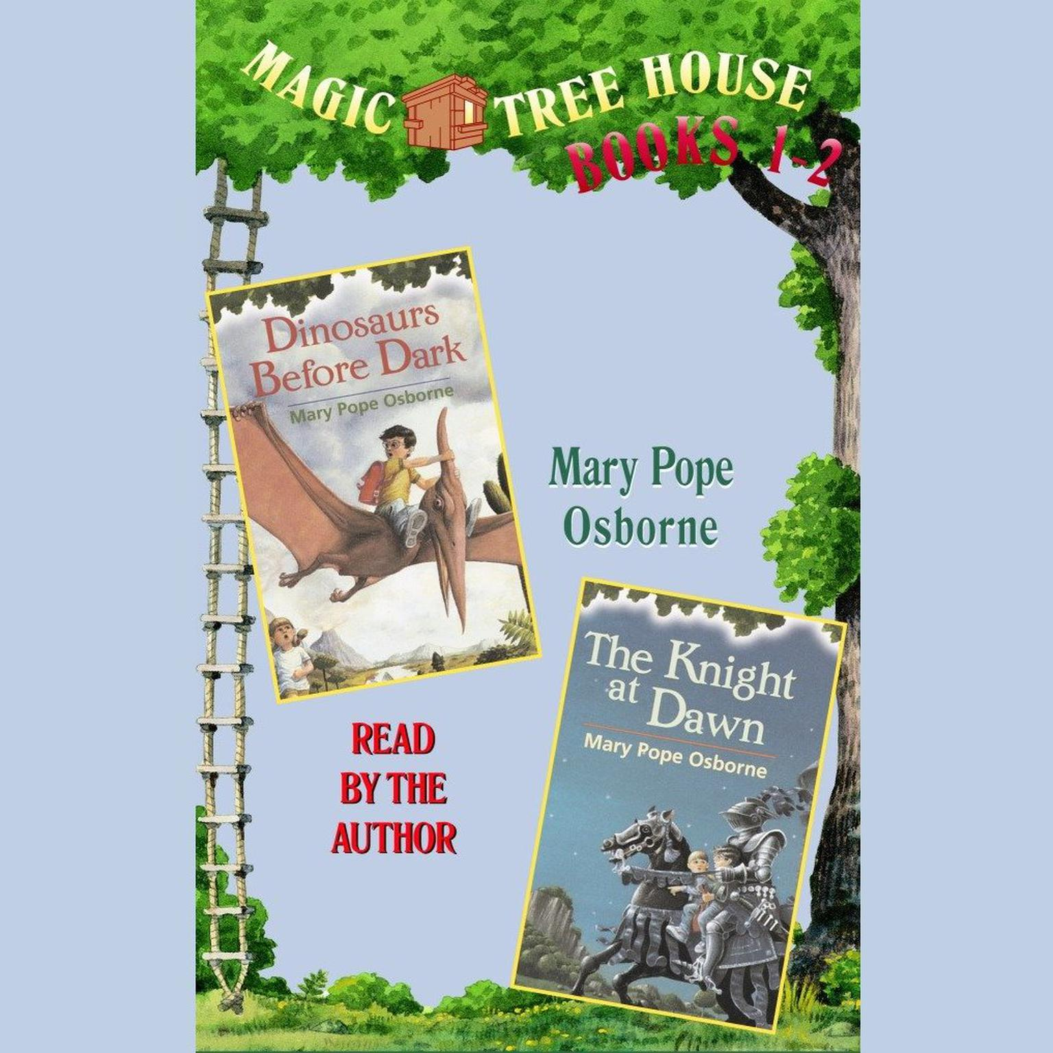 Printable Magic Tree House: Books 1 and 2: Dinosaurs Before Dark, The Knight at Dawn Audiobook Cover Art