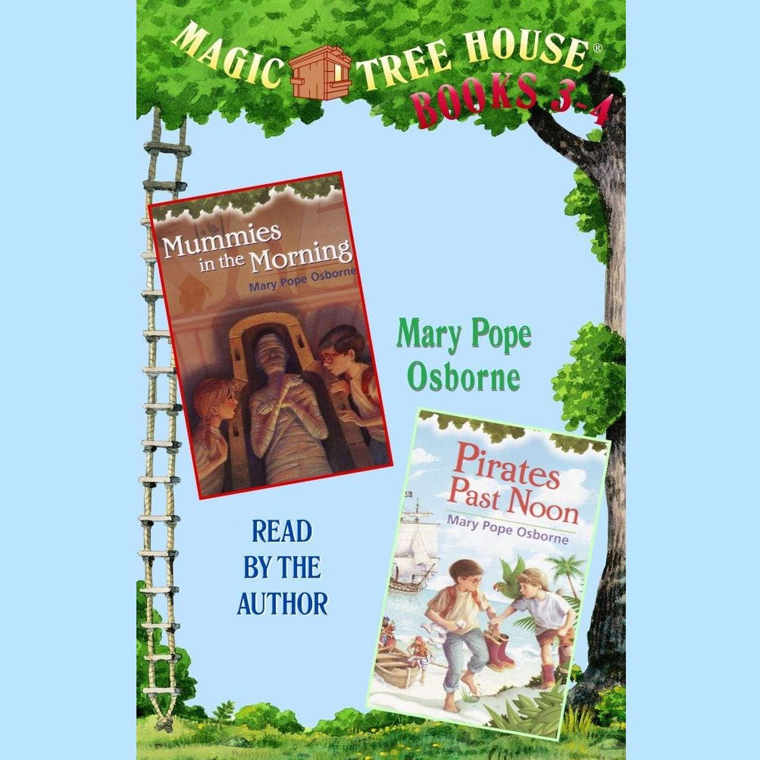 Printable Magic Tree House: Books 3 and 4: #3 Mummies in the Morning, #4 Pirates Past Noon Audiobook Cover Art