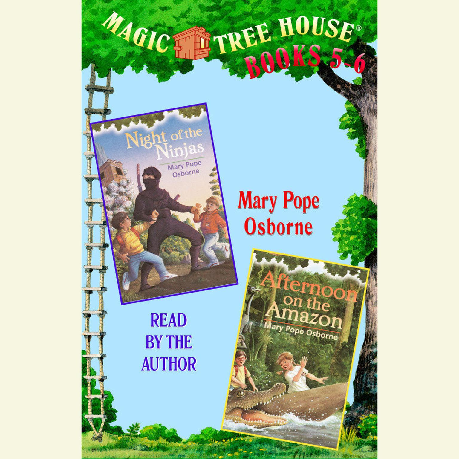 Printable Magic Tree House: Books 5 and 6: Night of the Ninjas, Afternoon on the Amazon Audiobook Cover Art