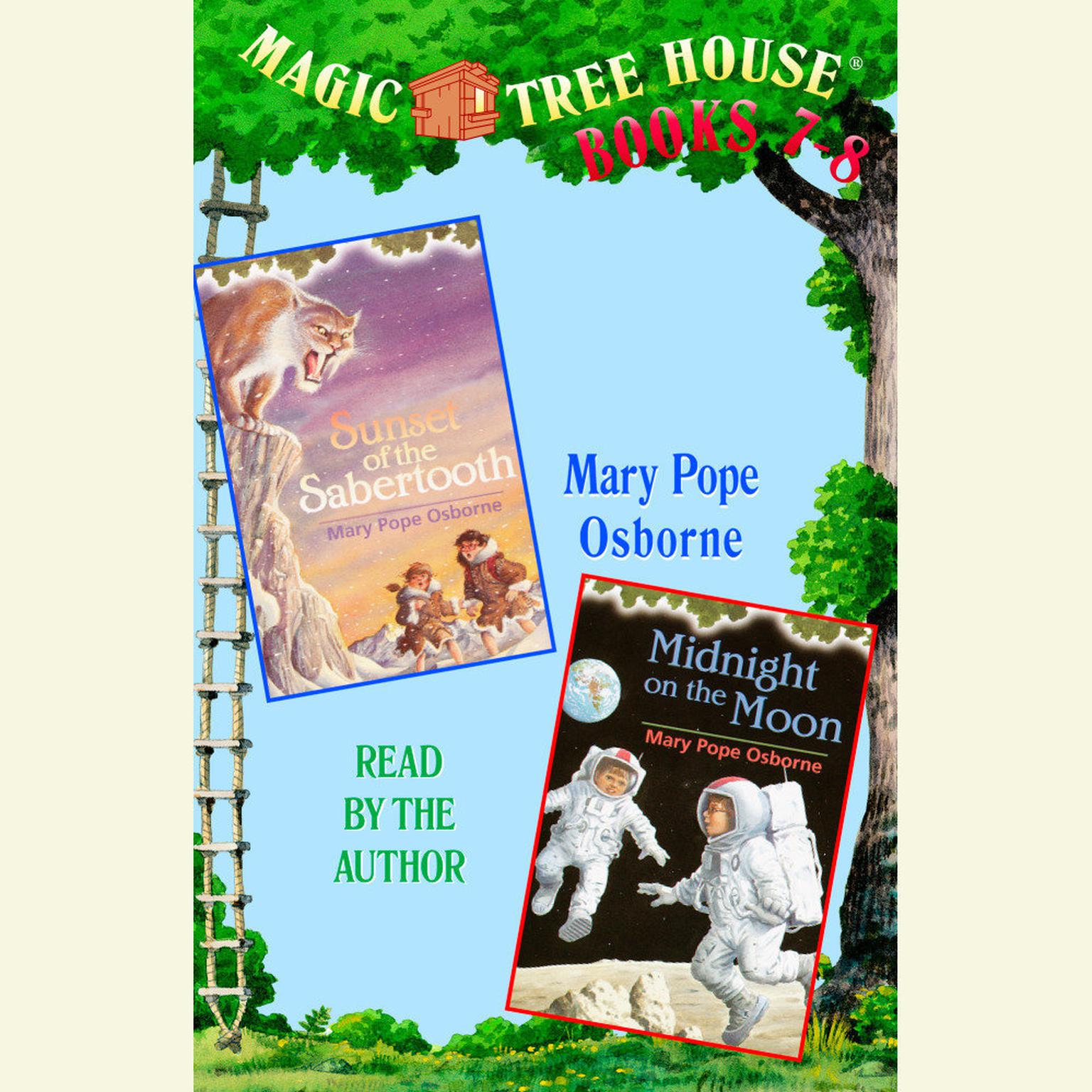 Printable Magic Tree House: Books 7 and 8: Sunset of the Sabertooth, Midnight on the Moon Audiobook Cover Art
