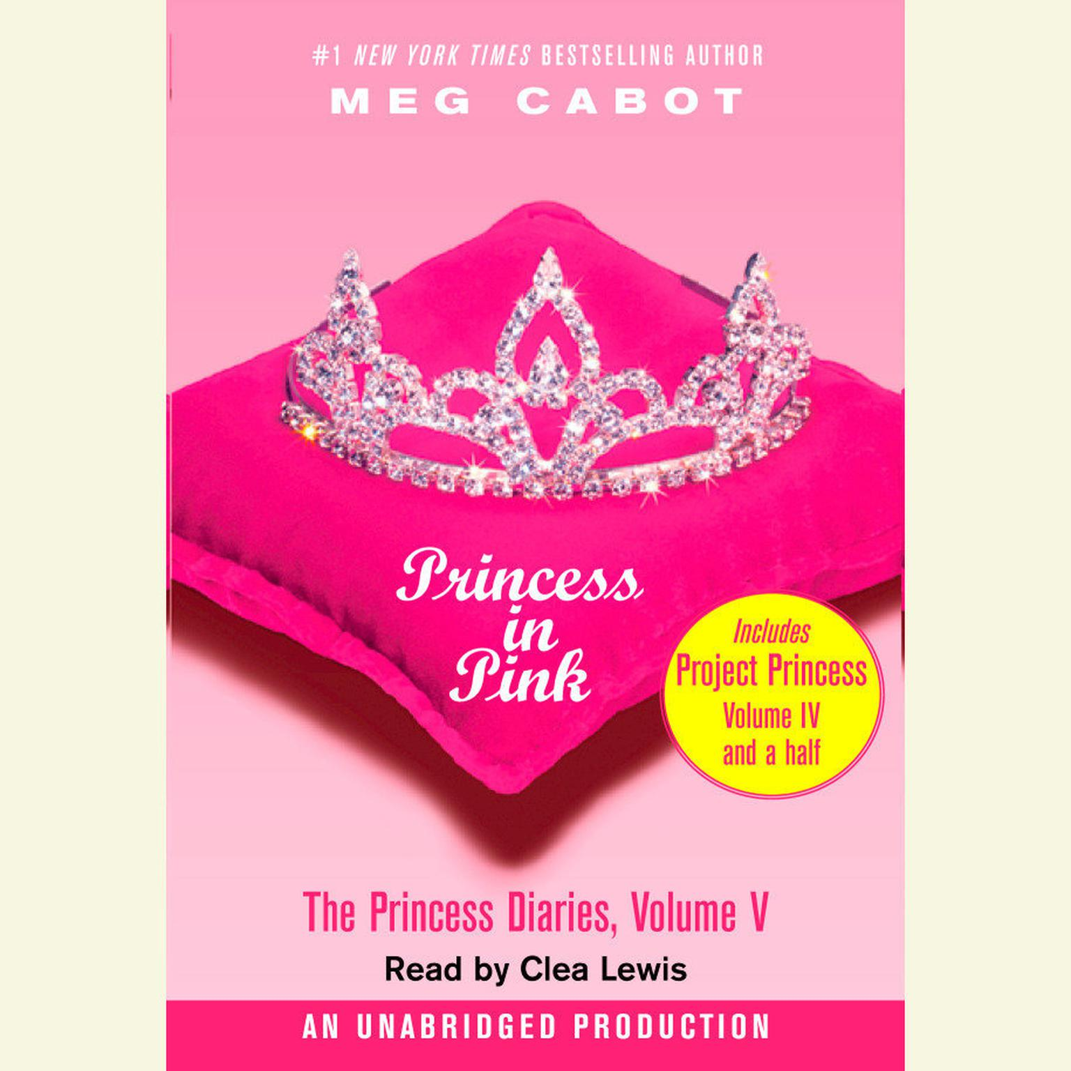Printable The Princess Diaries, Volume V: Princess in Pink Audiobook Cover Art
