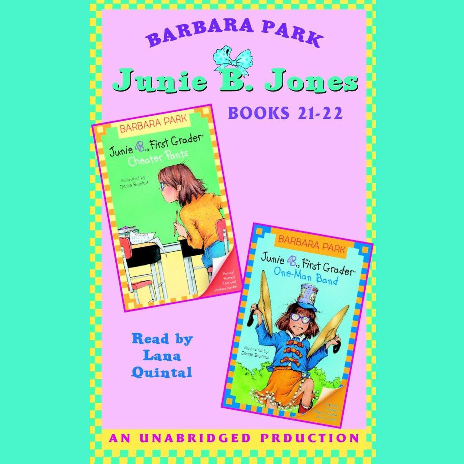 Printable Junie B. Jones: Books 21-22: Junie B. Jones #21 and #22 Audiobook Cover Art