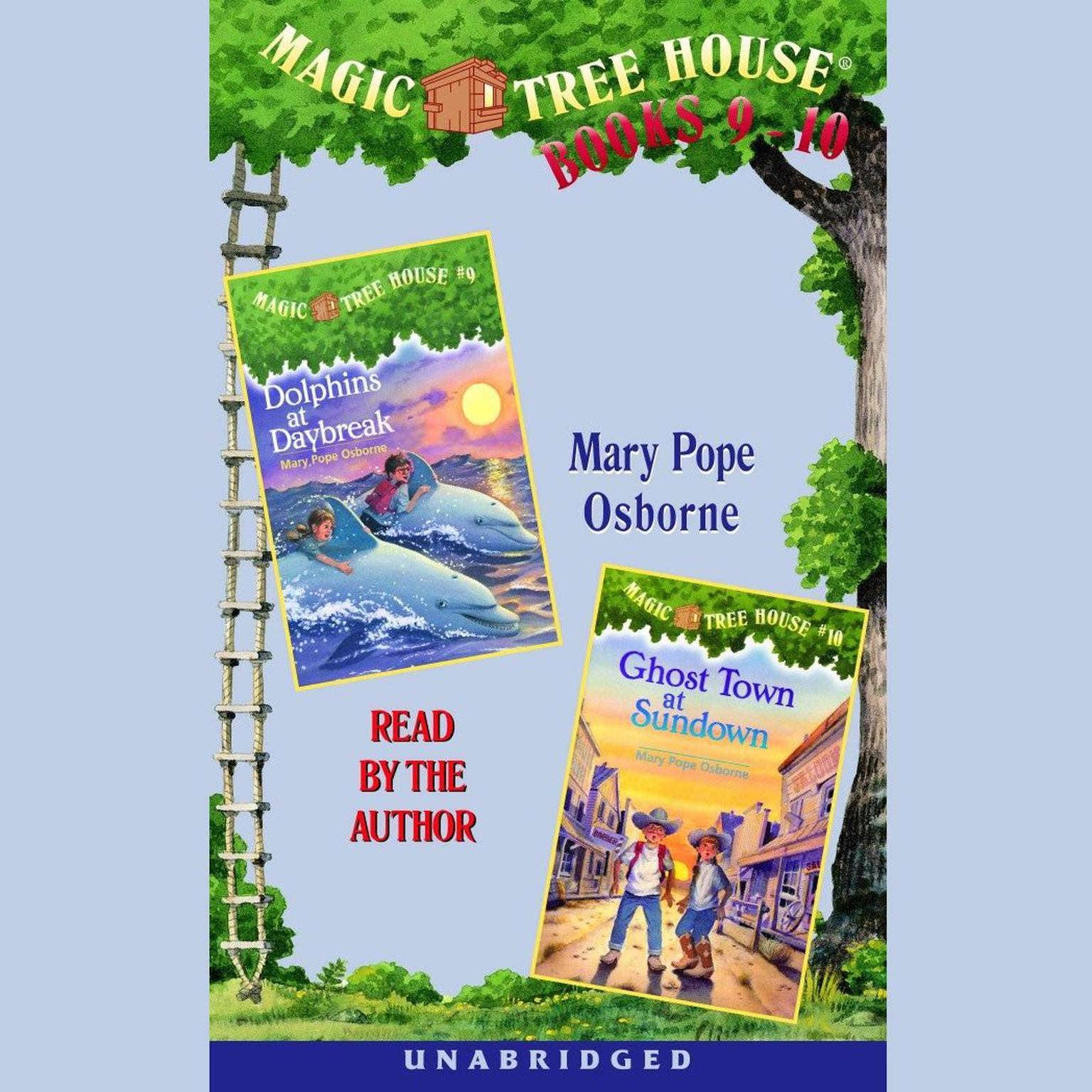 Printable Magic Tree House: Books 9 and 10: Dolphins at Daybreak, Ghost Town at Sundown Audiobook Cover Art