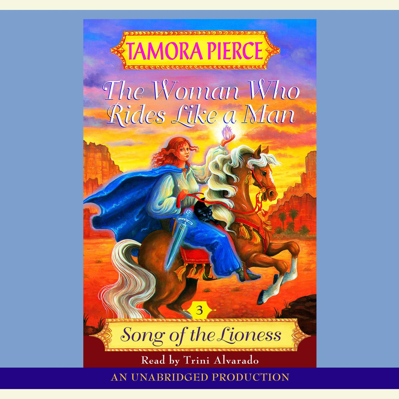 Printable The Woman Who Rides Like A Man: Song of the Lioness #3 Audiobook Cover Art
