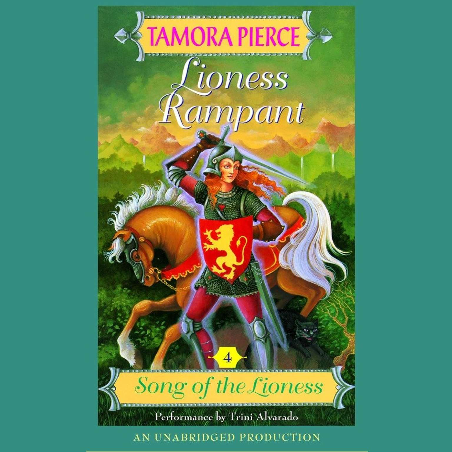 Printable Lioness Rampant: Song of the Lioness #4 Audiobook Cover Art