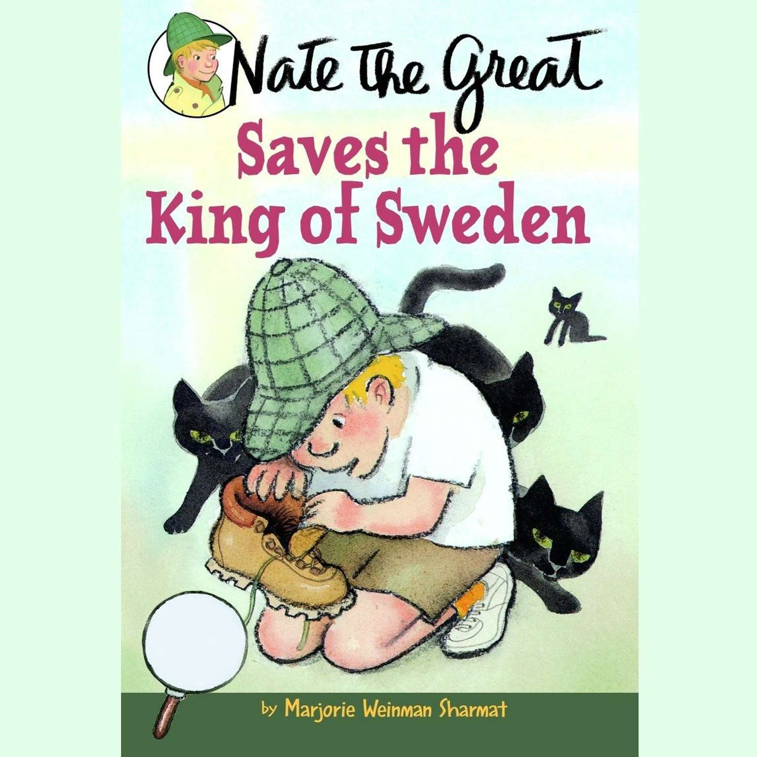 Printable Nate the Great Saves the King of Sweden Audiobook Cover Art