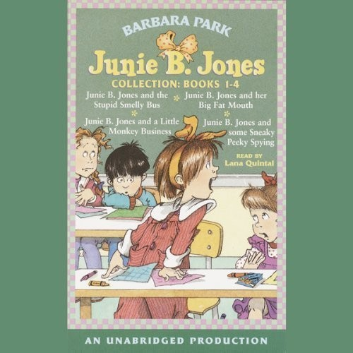 Printable Junie B. Jones Collection, Books 1–4 Audiobook Cover Art