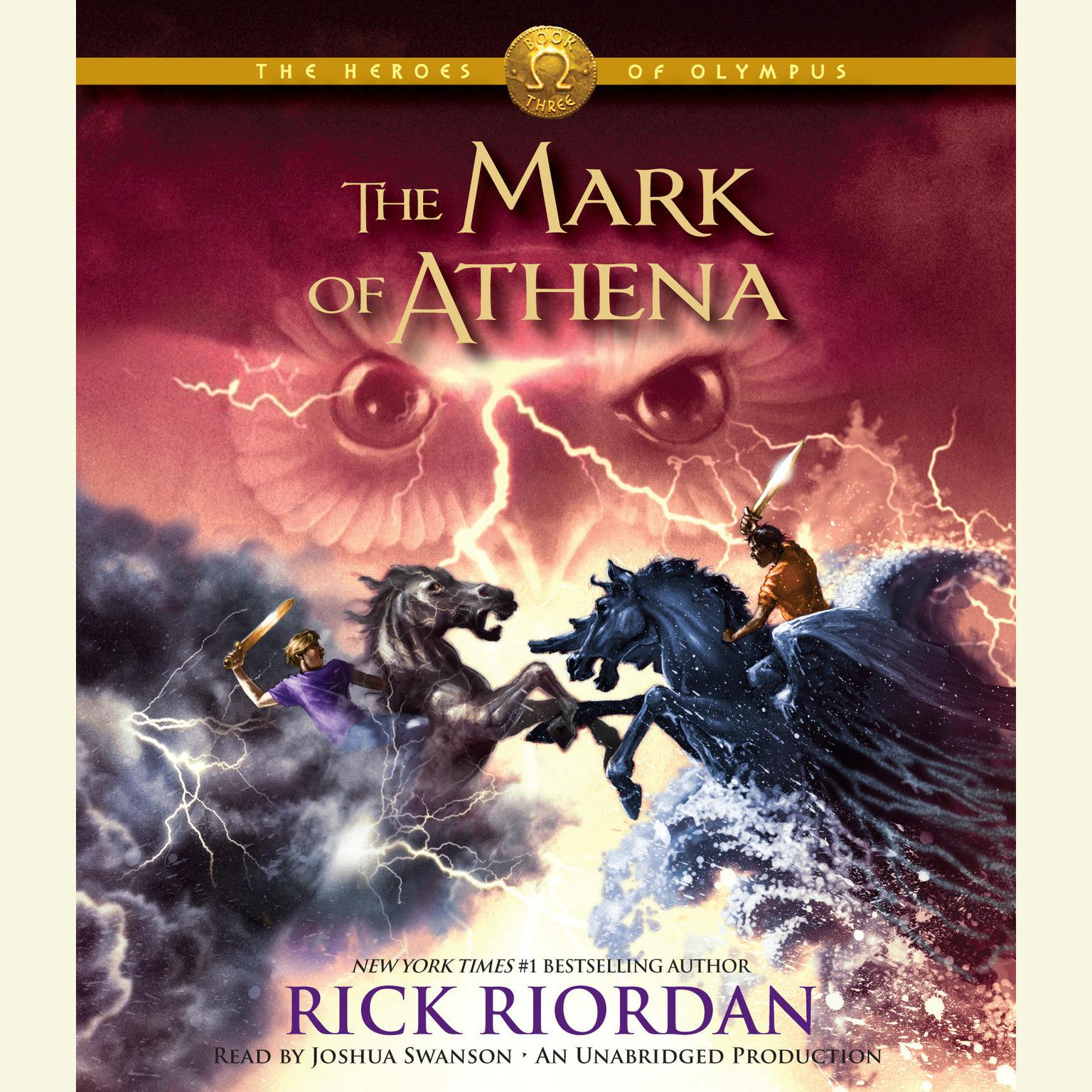 Printable The Heroes of Olympus, Book Three: The Mark of Athena Audiobook Cover Art