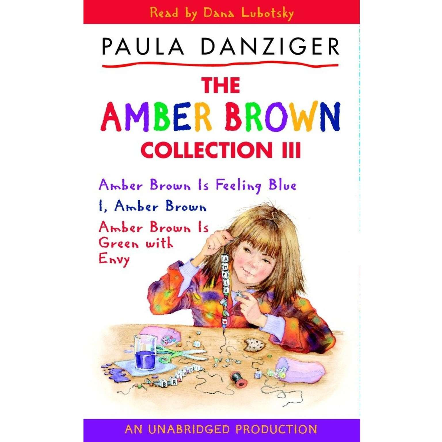 Printable The Amber Brown Collection III: #7 Amber Brown Is Feeling Blue; #8 I, Amber Brown; #9 Amber Brown is Green with Envy Audiobook Cover Art