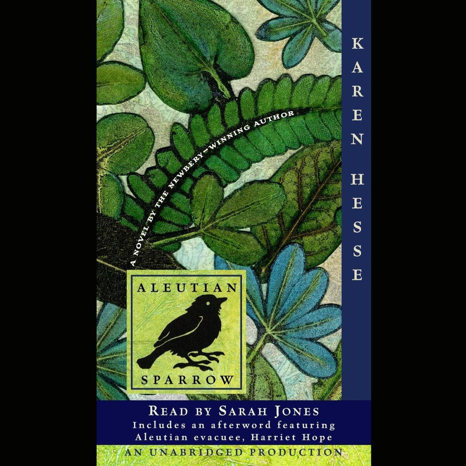 Printable Aleutian Sparrow Audiobook Cover Art