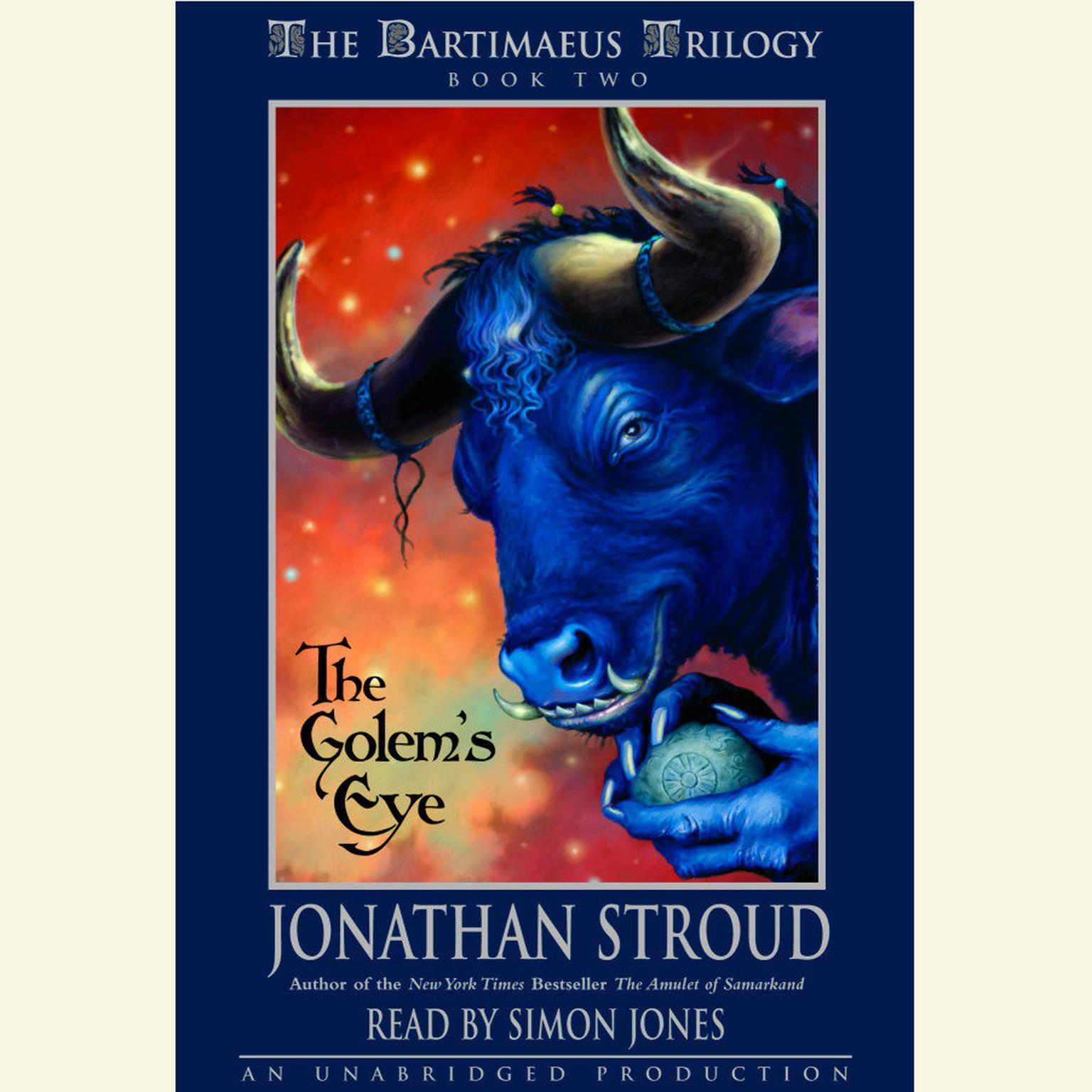 Printable The Bartimaeus Trilogy, Book Two: The Golem's Eye Audiobook Cover Art
