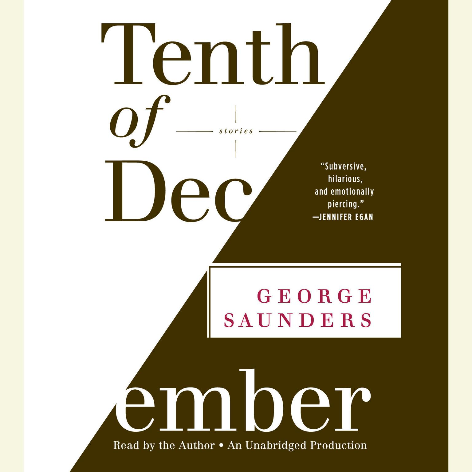 Printable Tenth of December: Stories Audiobook Cover Art