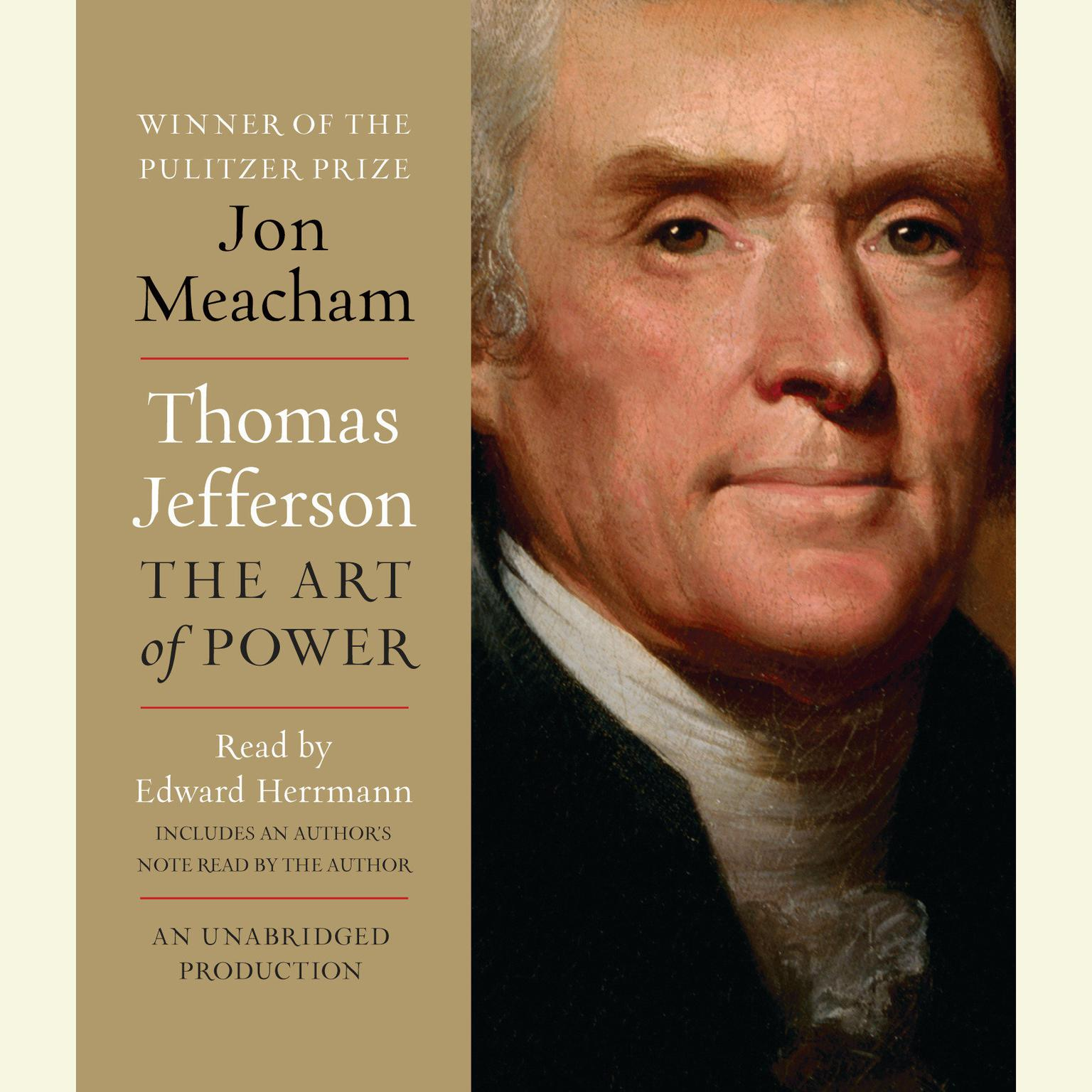 Printable Thomas Jefferson: The Art of Power: The Art of Power Audiobook Cover Art