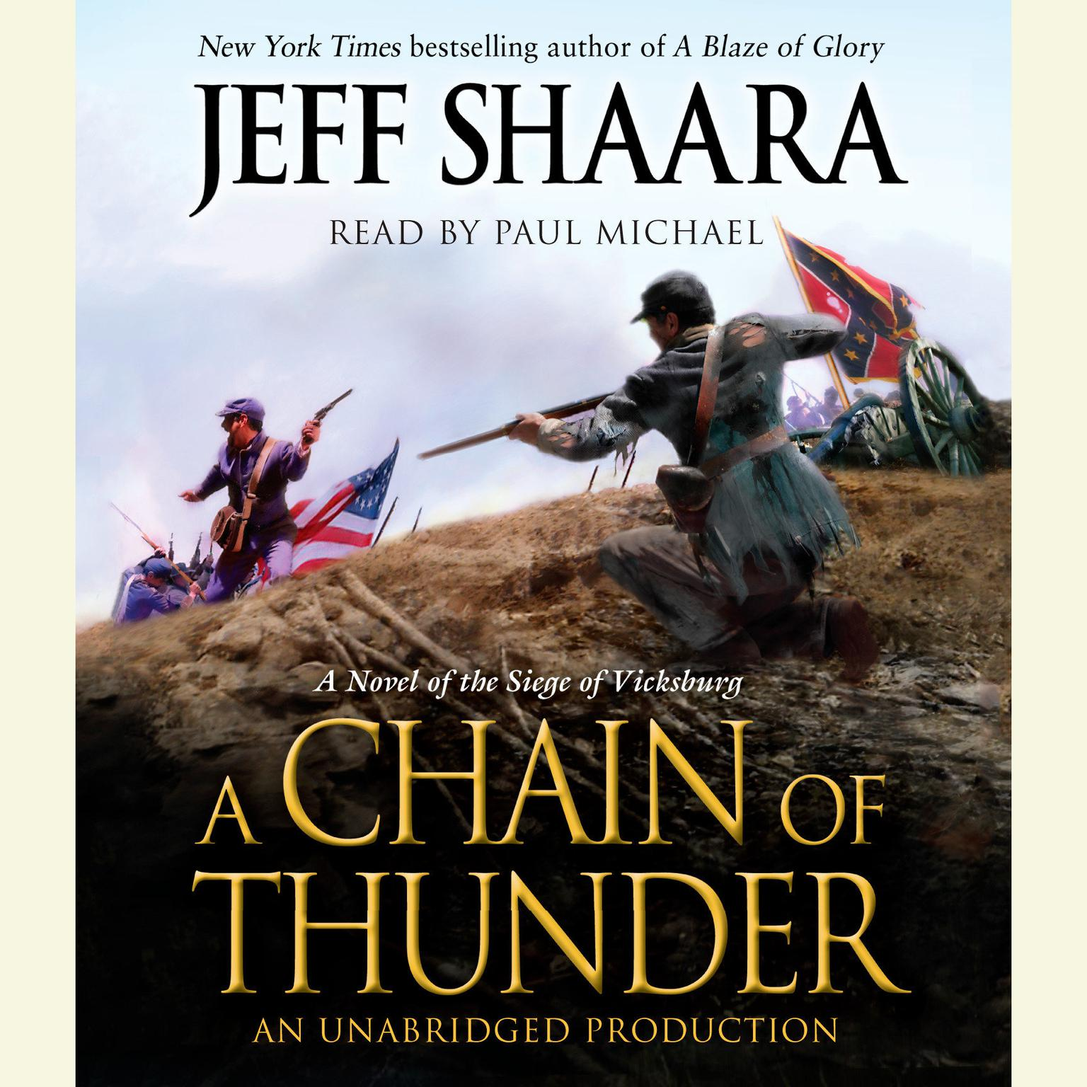 Printable A Chain of Thunder: A Novel of the Siege of Vicksburg Audiobook Cover Art
