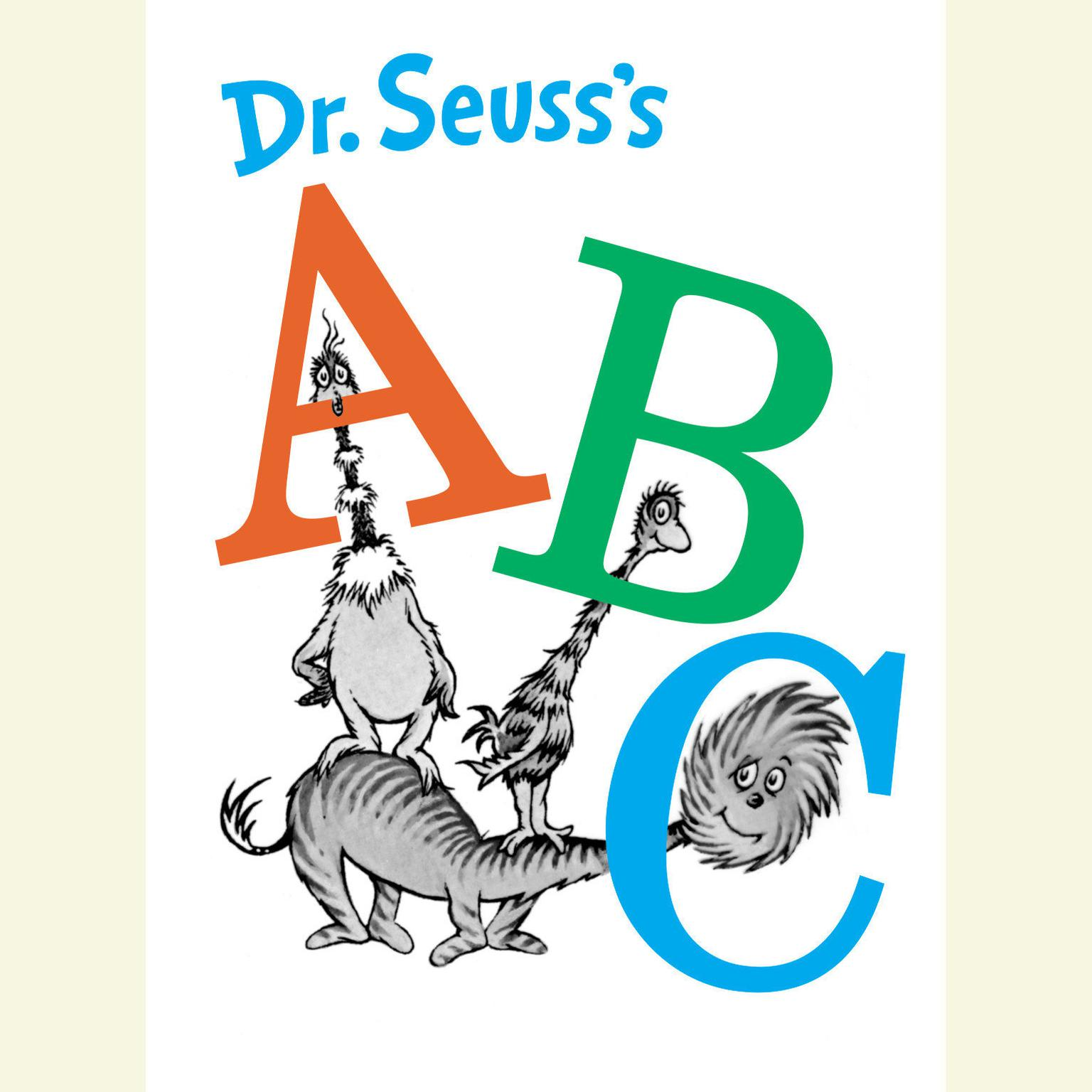 Printable Dr. Seuss's ABC Audiobook Cover Art