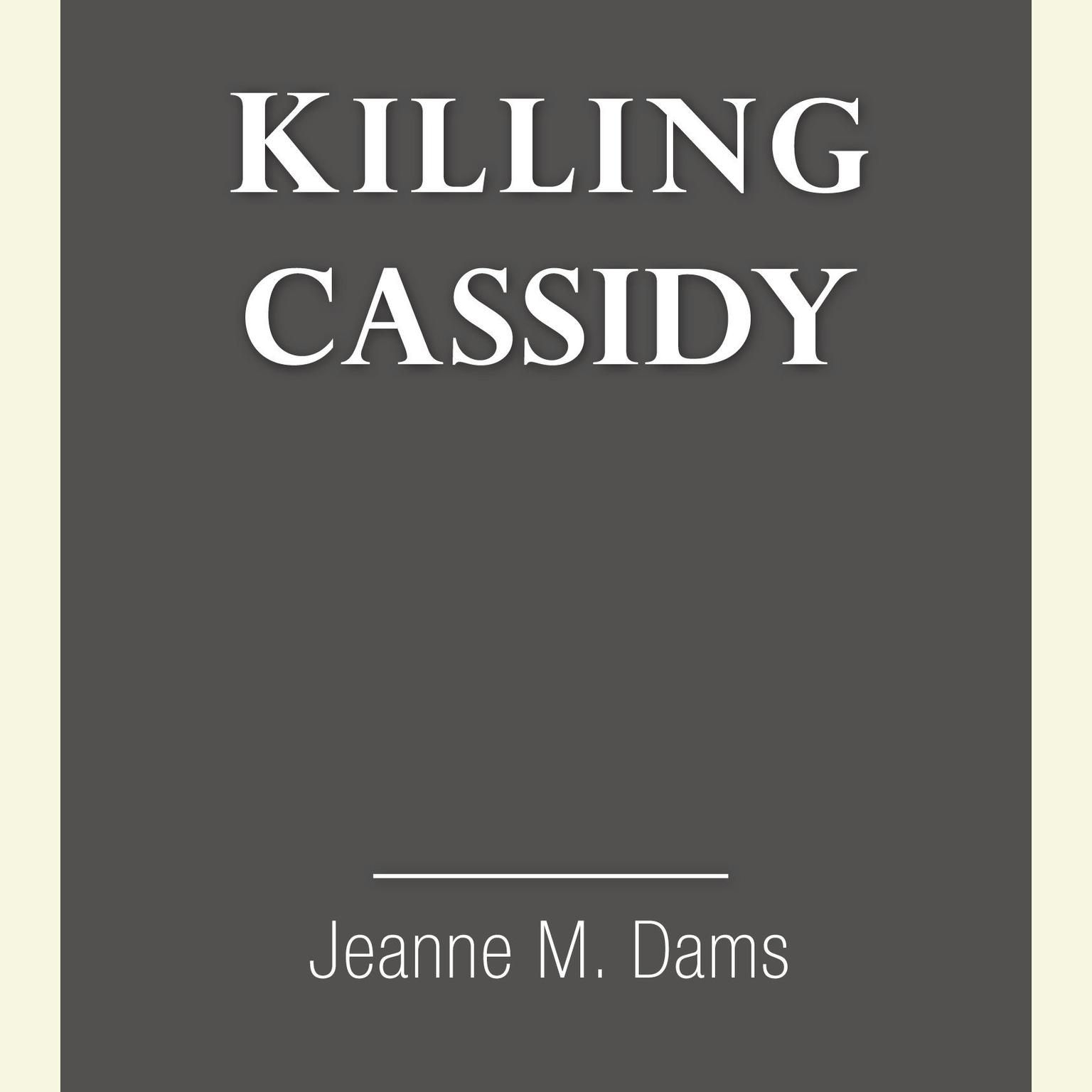 Printable Killing Cassidy Audiobook Cover Art
