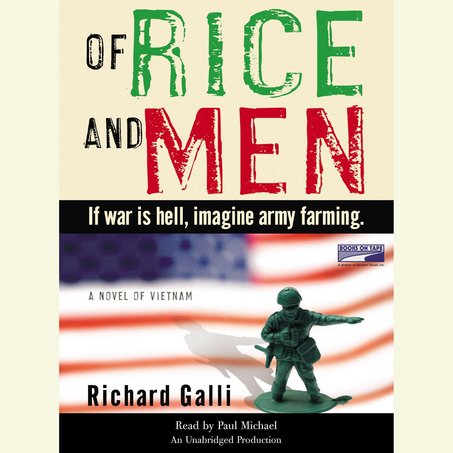 Printable Of Rice and Men: A Novel of Vietnam Audiobook Cover Art