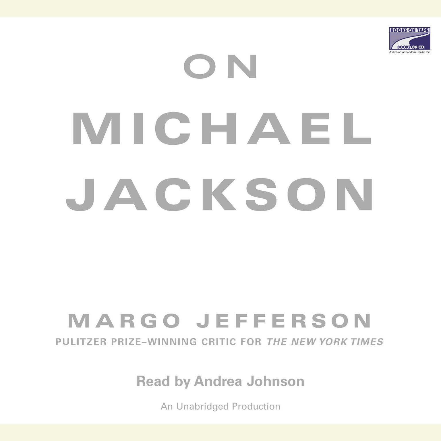 Printable On Michael Jackson Audiobook Cover Art