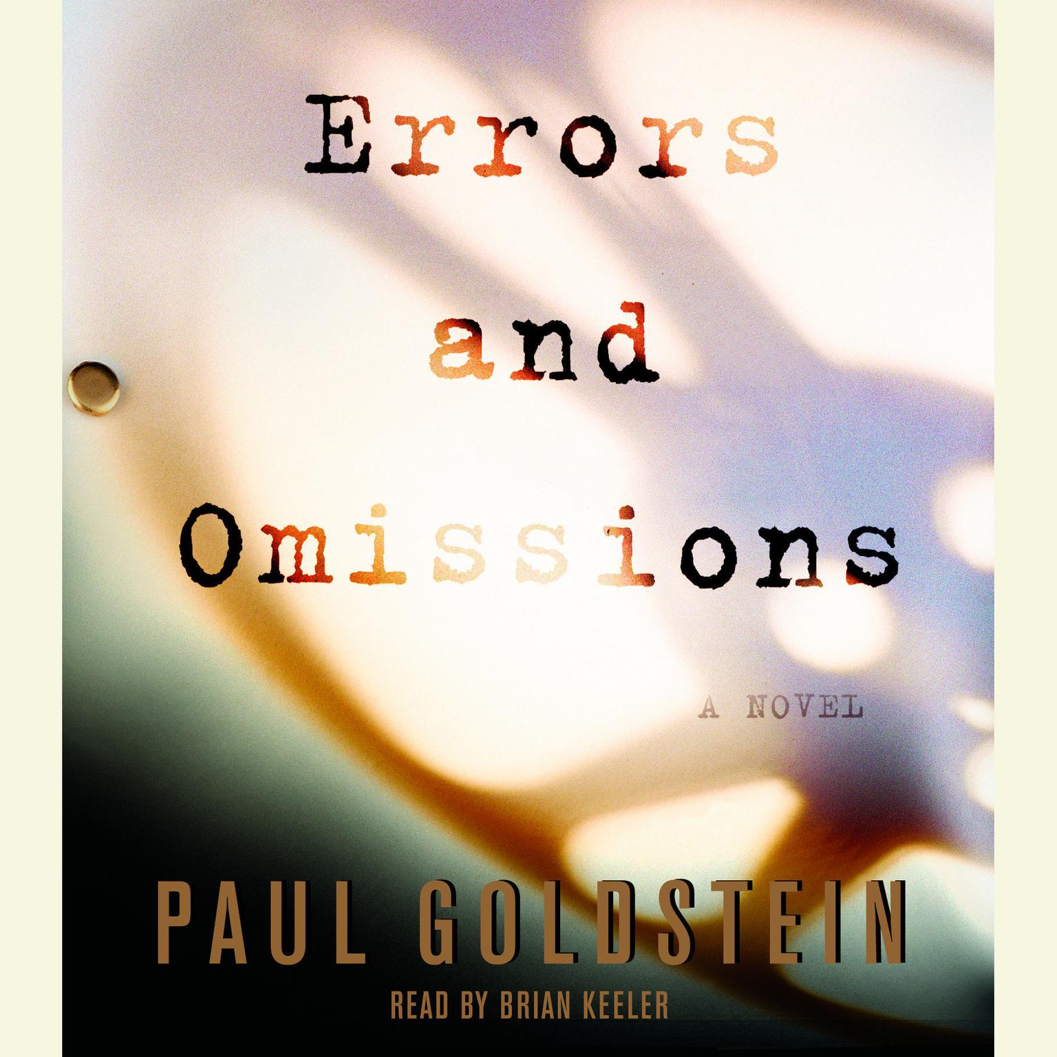 Printable Errors and Omissions Audiobook Cover Art