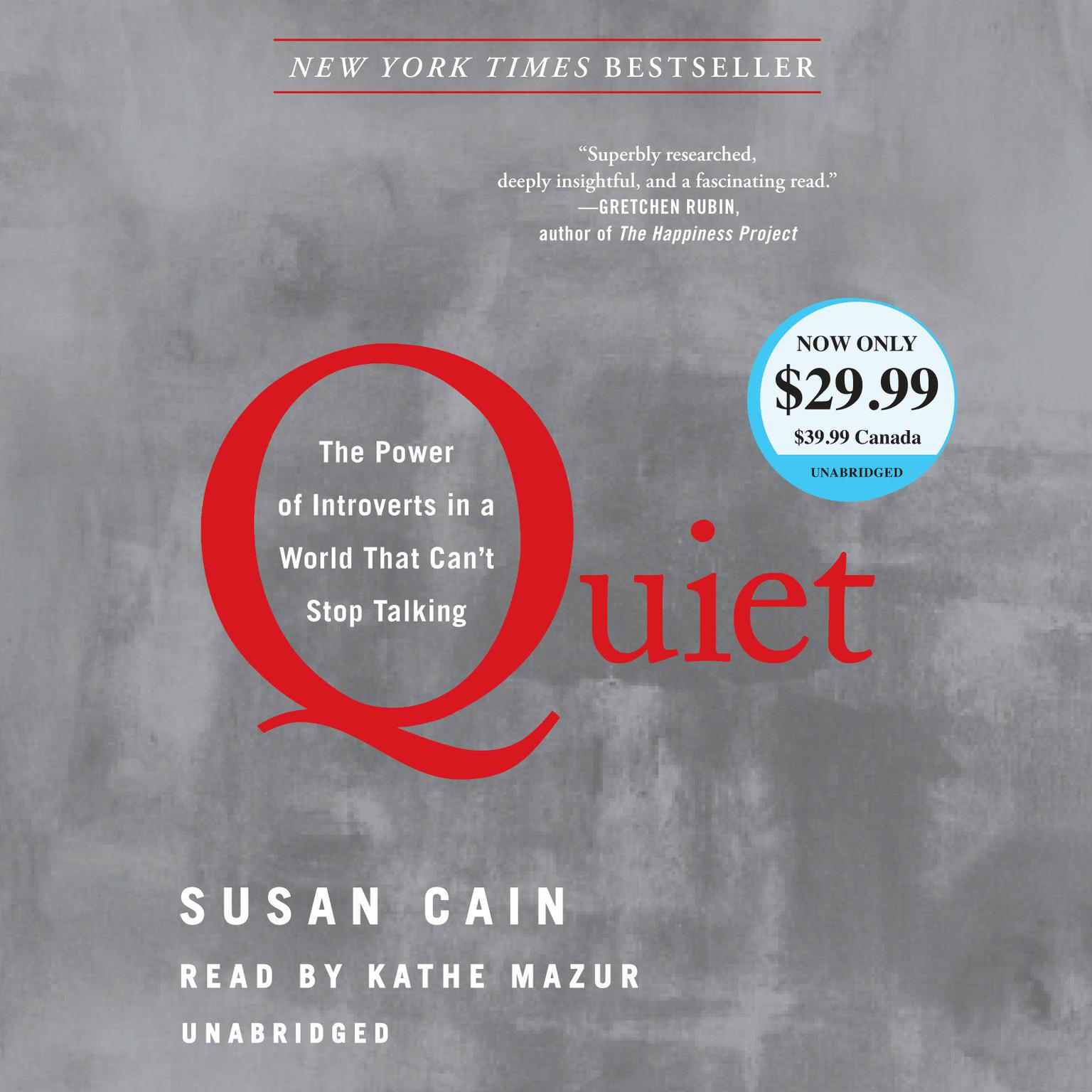 Printable Quiet: The Power of Introverts in a World That Can't Stop Talking Audiobook Cover Art