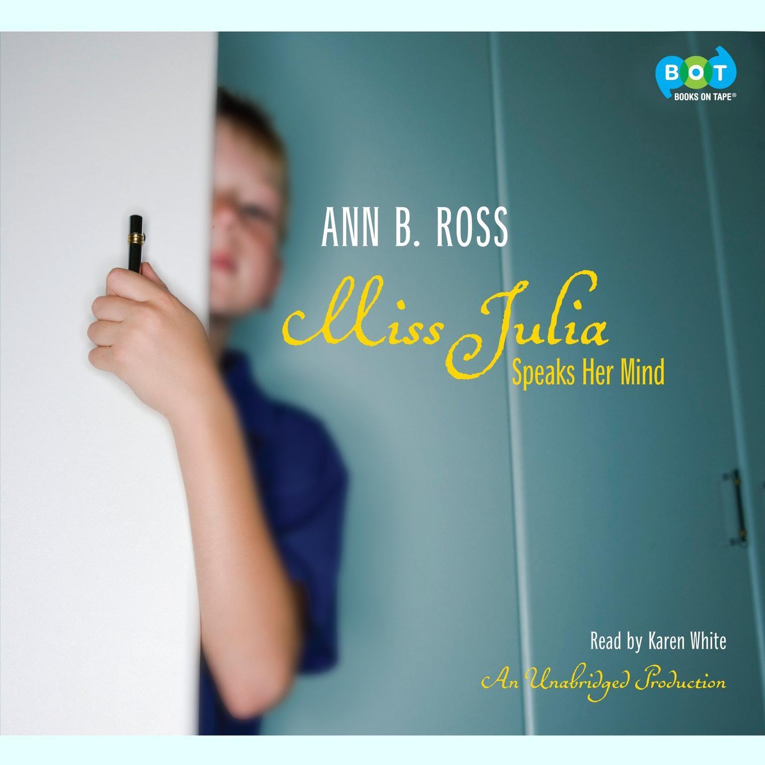 Printable Miss Julia Speaks Her Mind Audiobook Cover Art