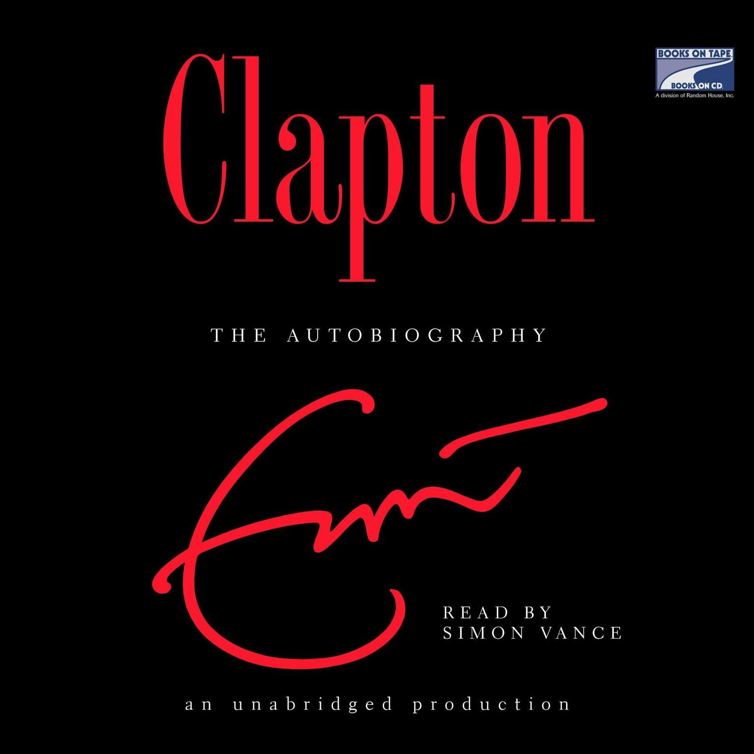 Printable Clapton: The Autobiography Audiobook Cover Art