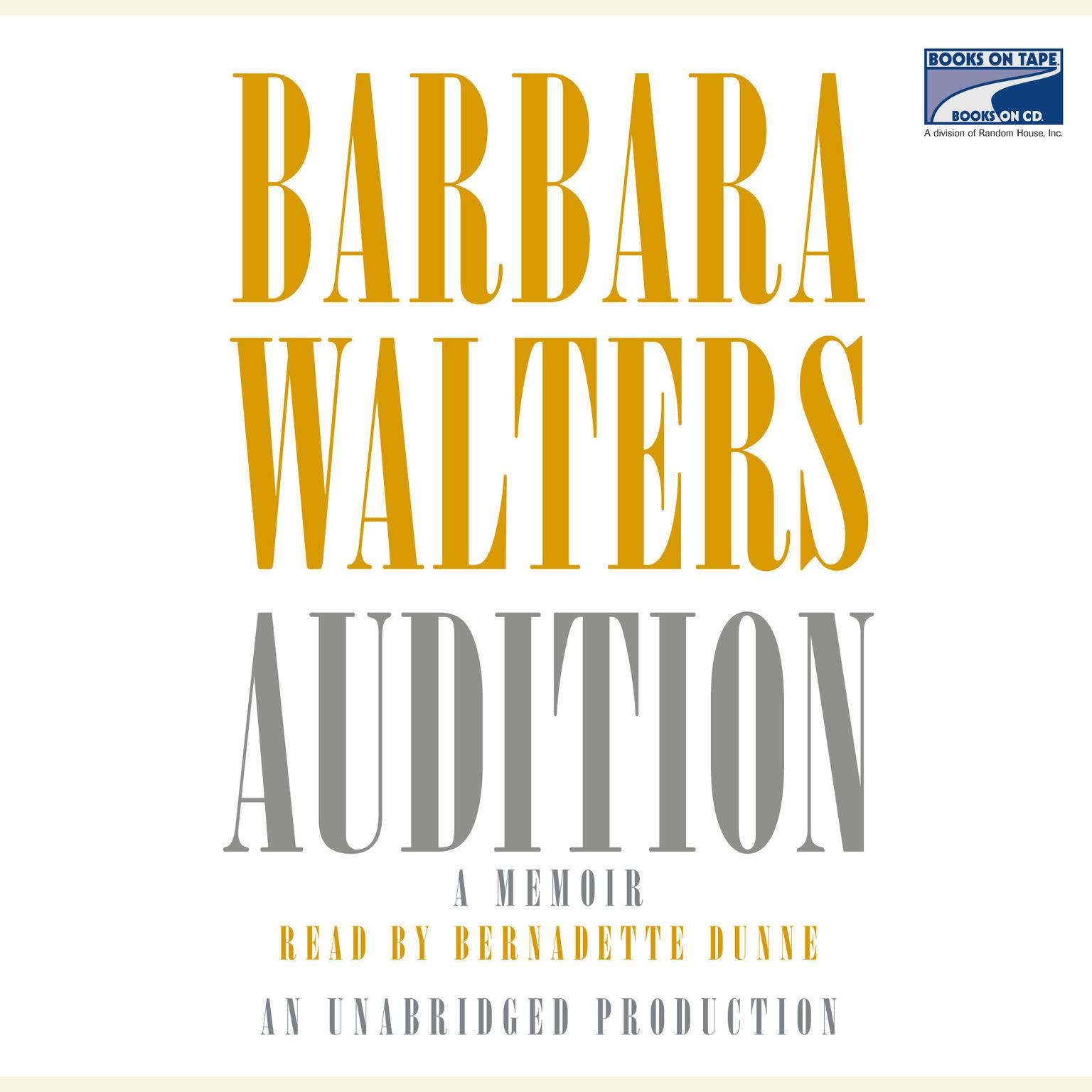 Printable Audition Audiobook Cover Art