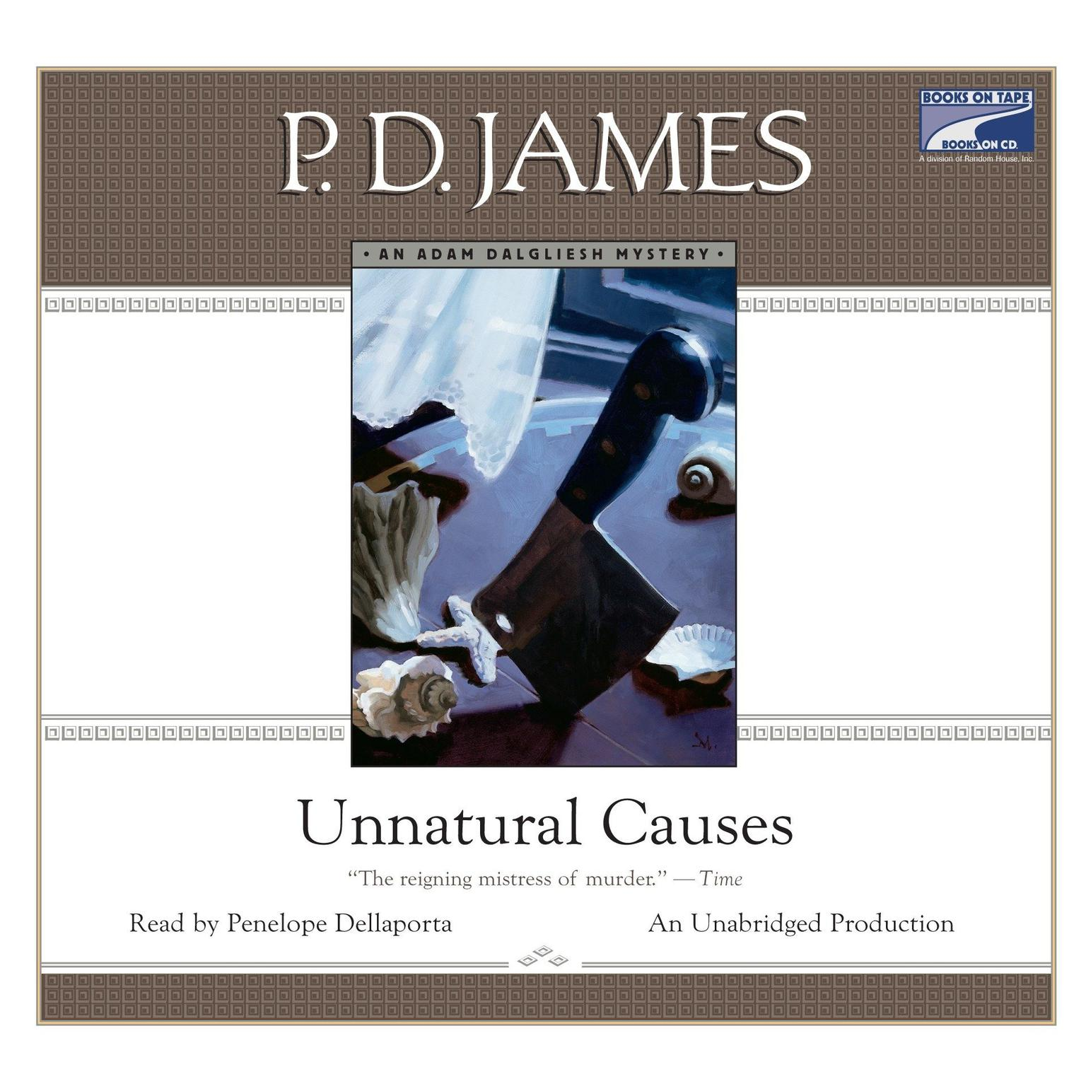 Printable Unnatural Causes Audiobook Cover Art