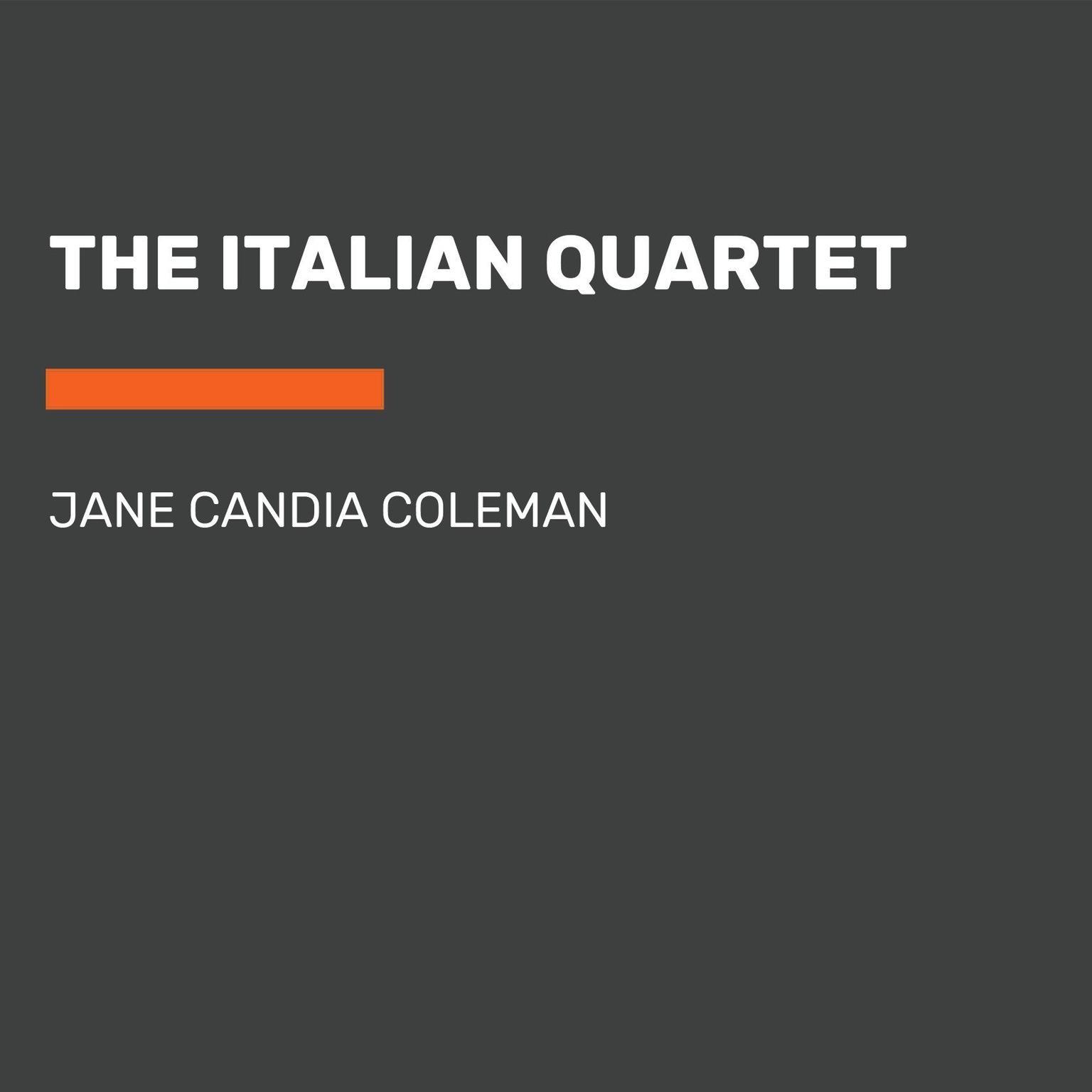 Printable The Italian Quartet Audiobook Cover Art