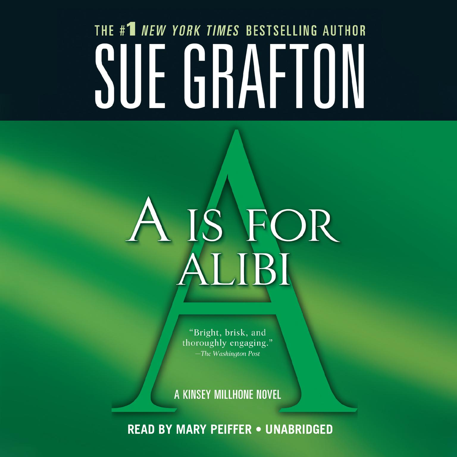 Printable A Is For Alibi Audiobook Cover Art