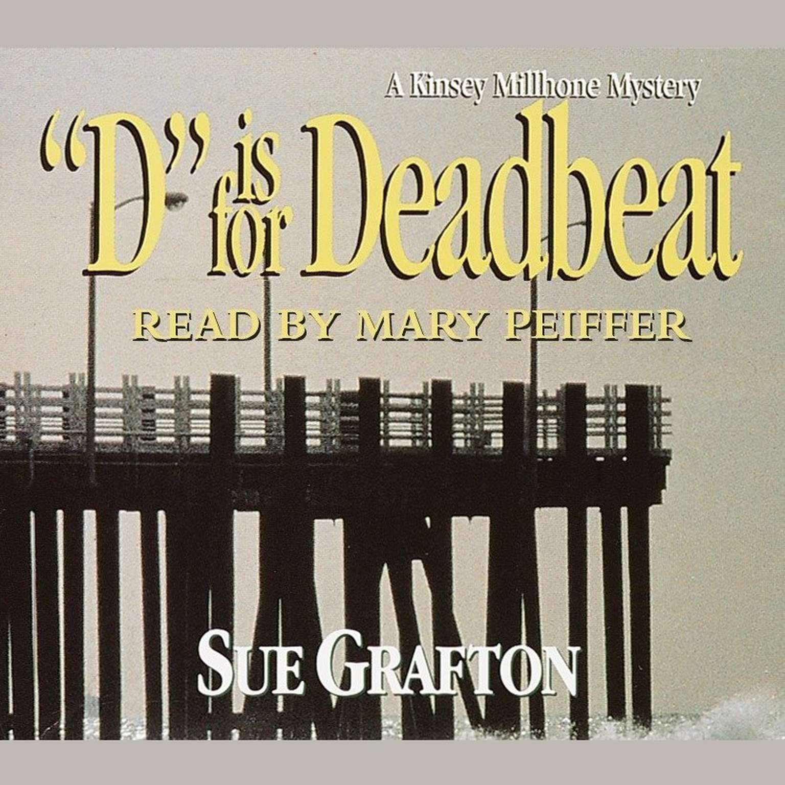 Printable D Is for Deadbeat Audiobook Cover Art