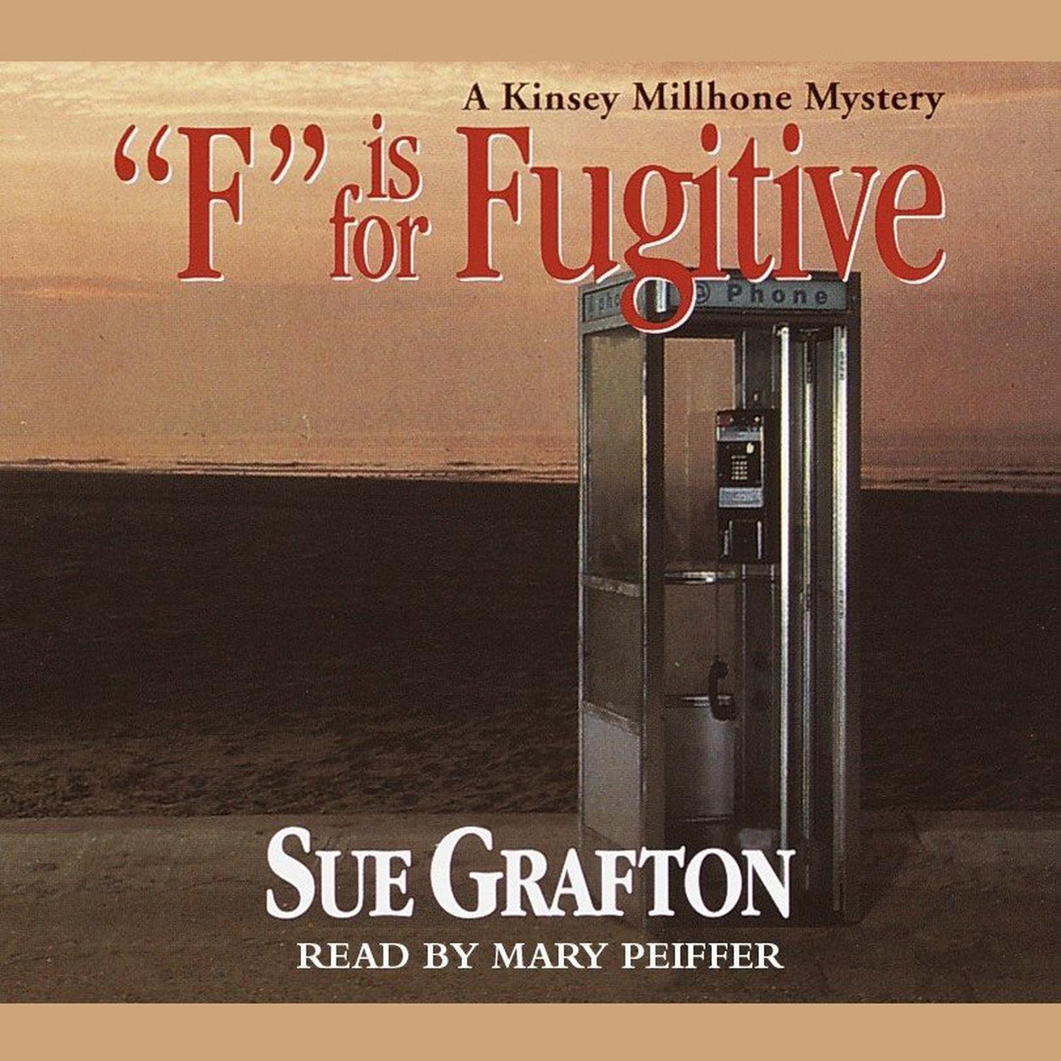 Printable F Is for Fugitive Audiobook Cover Art
