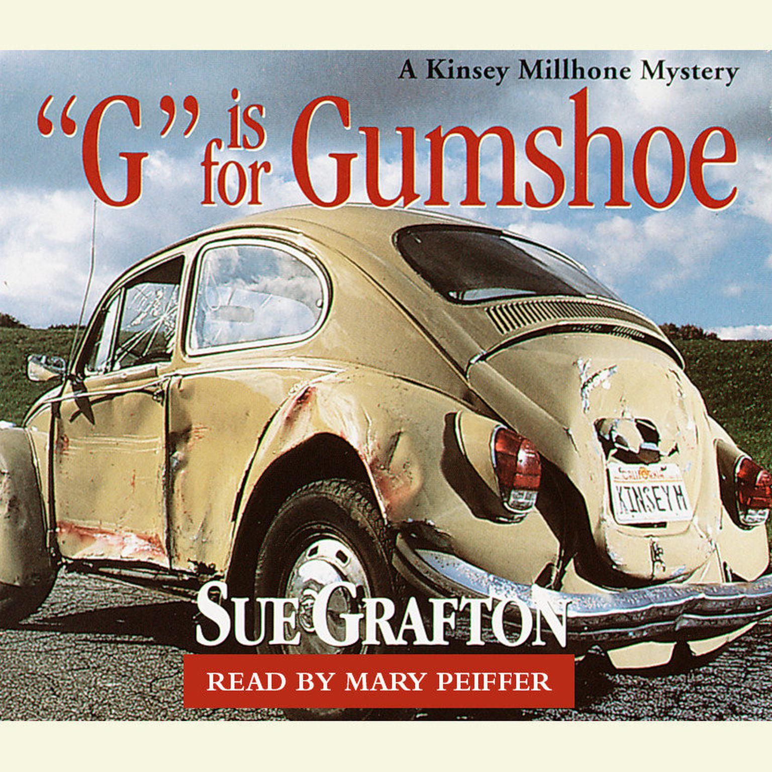 Printable G Is for Gumshoe Audiobook Cover Art