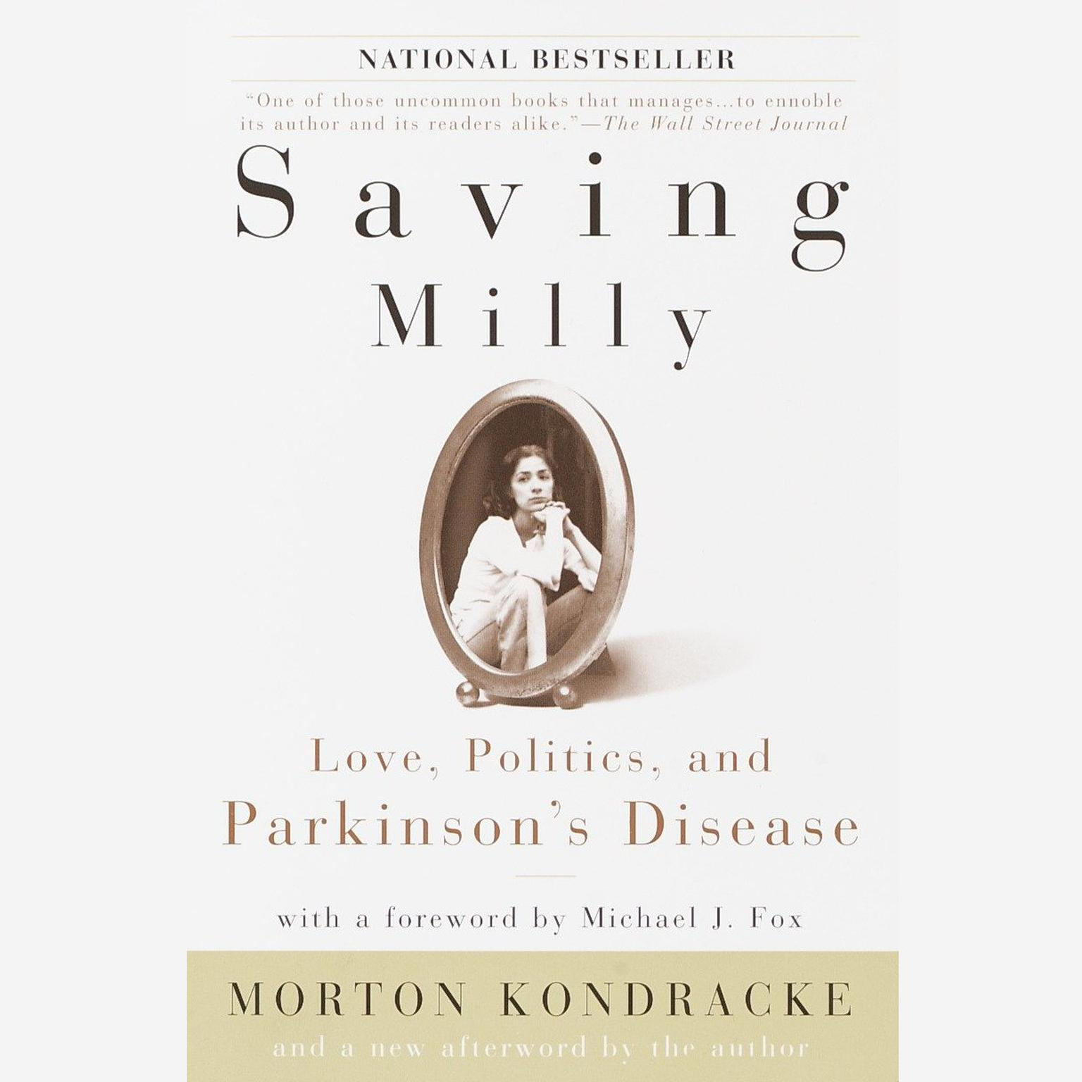 Printable Saving Milly: Love, Politics, and Parkinson's Disease Audiobook Cover Art
