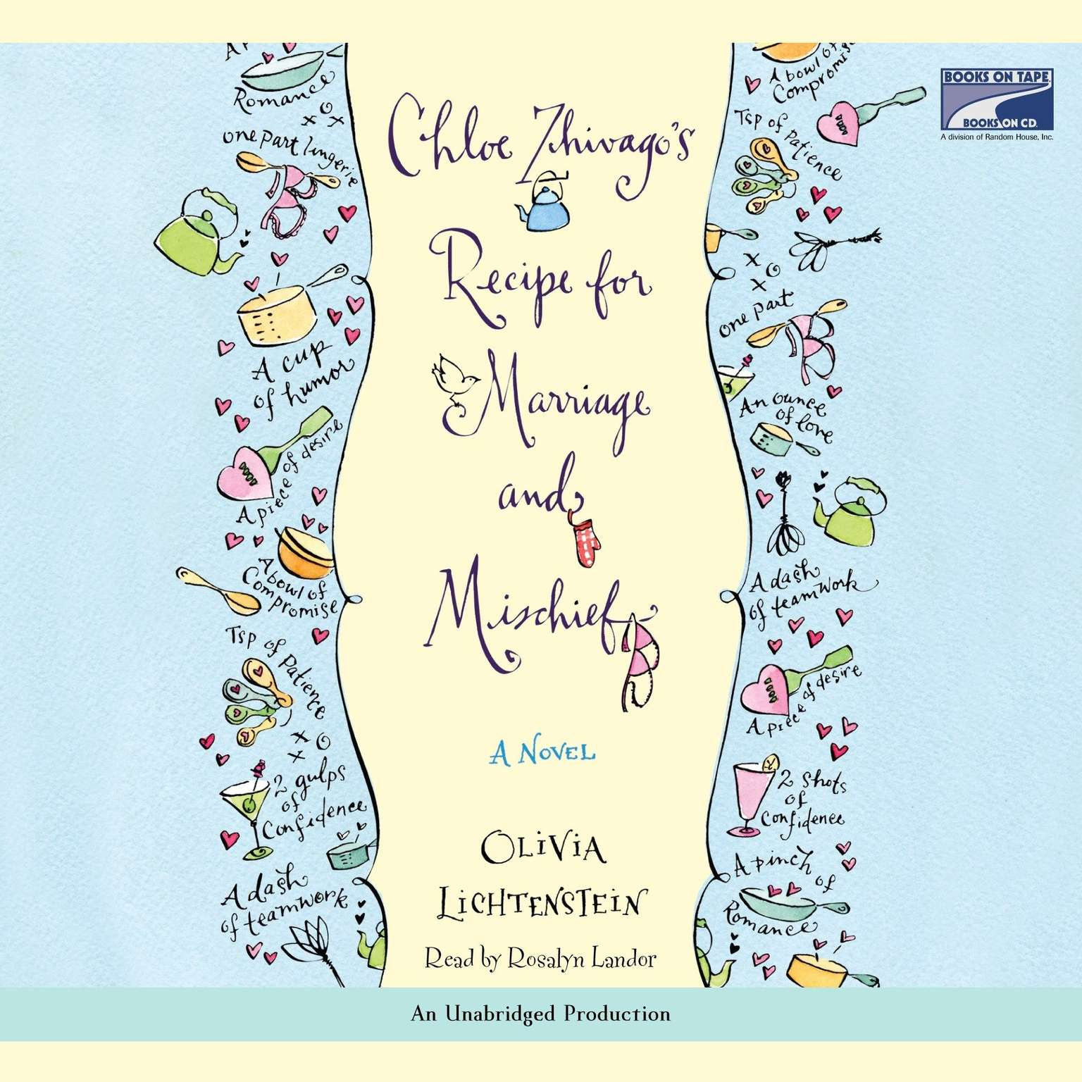 Printable Chloe Zhivago's Recipe for Marriage and Mischief: A Novel Audiobook Cover Art