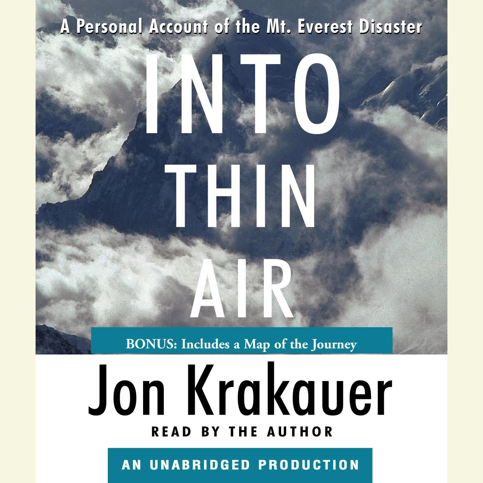 Printable Into Thin Air: A Personal Account of the Mt. Everest Disaster Audiobook Cover Art