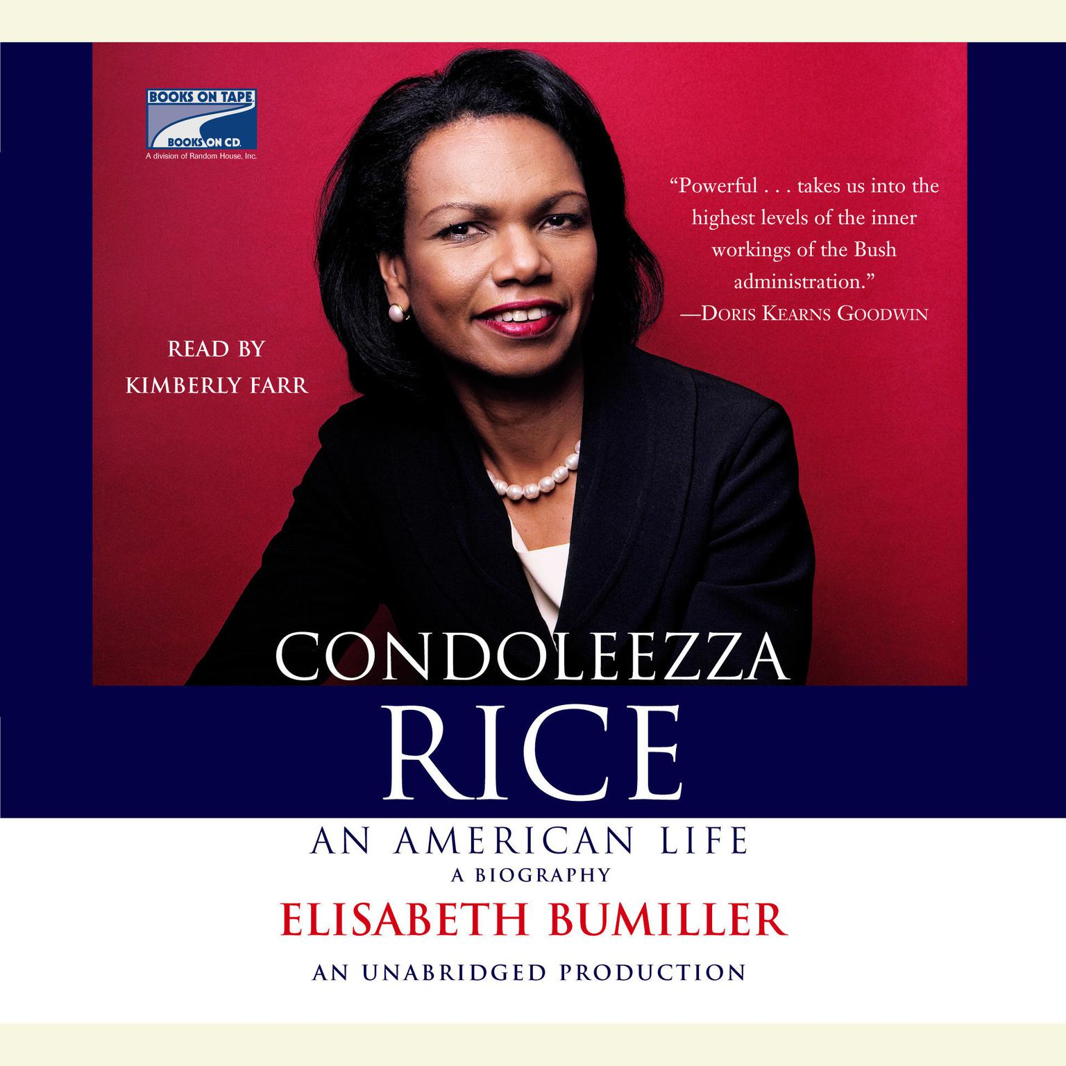 Printable Condoleezza Rice: An American Life Audiobook Cover Art