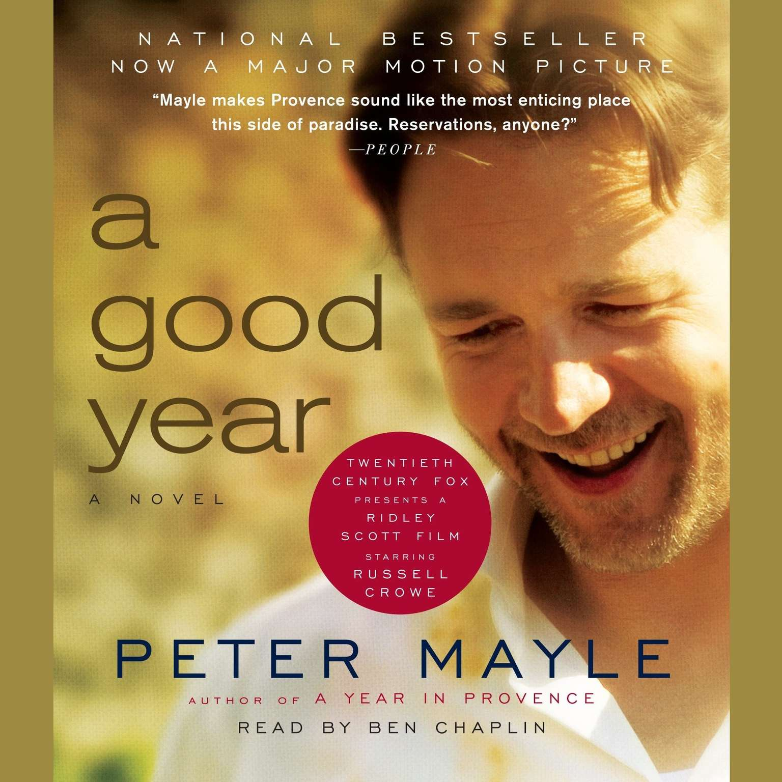 Printable A Good Year Audiobook Cover Art