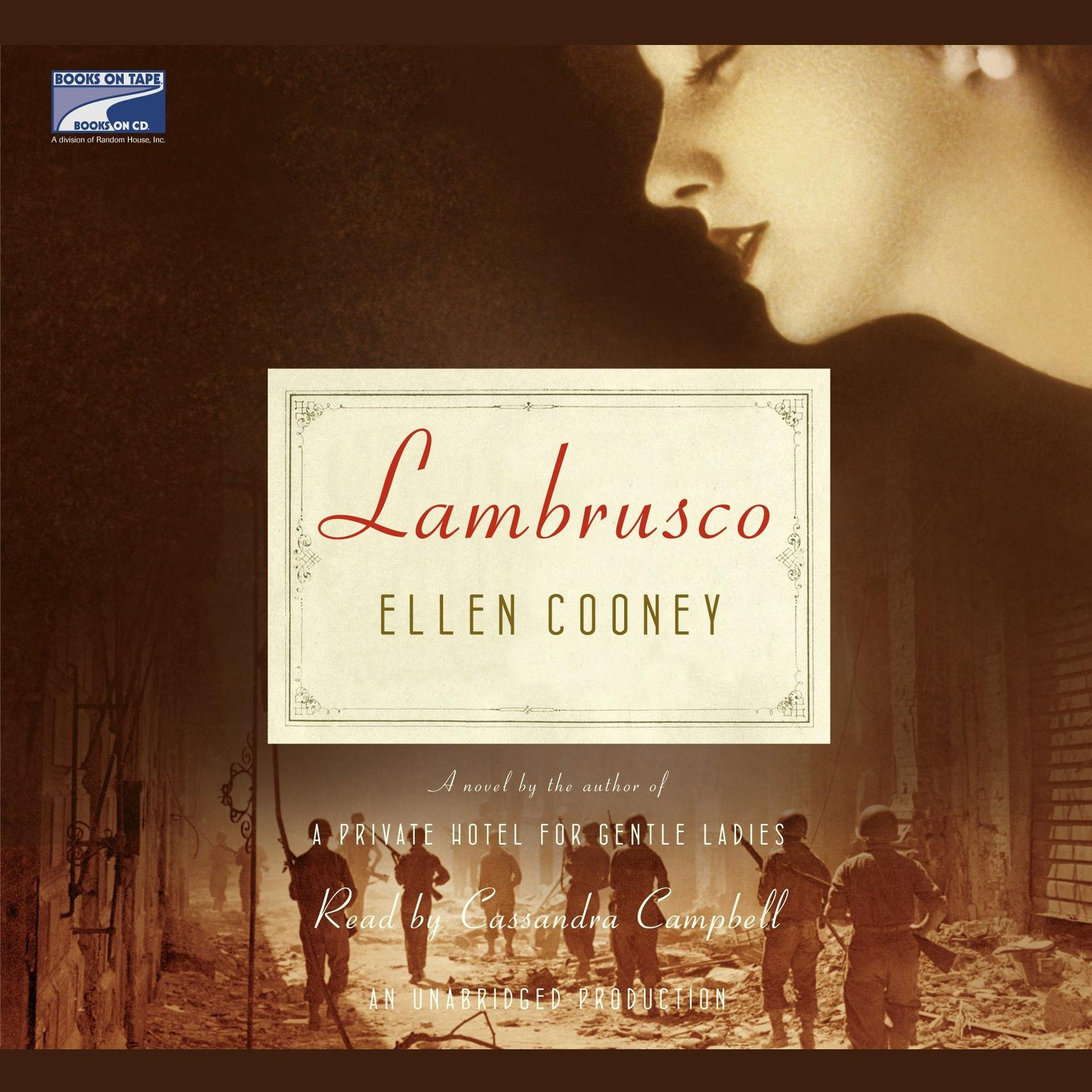 Printable Lambrusco Audiobook Cover Art