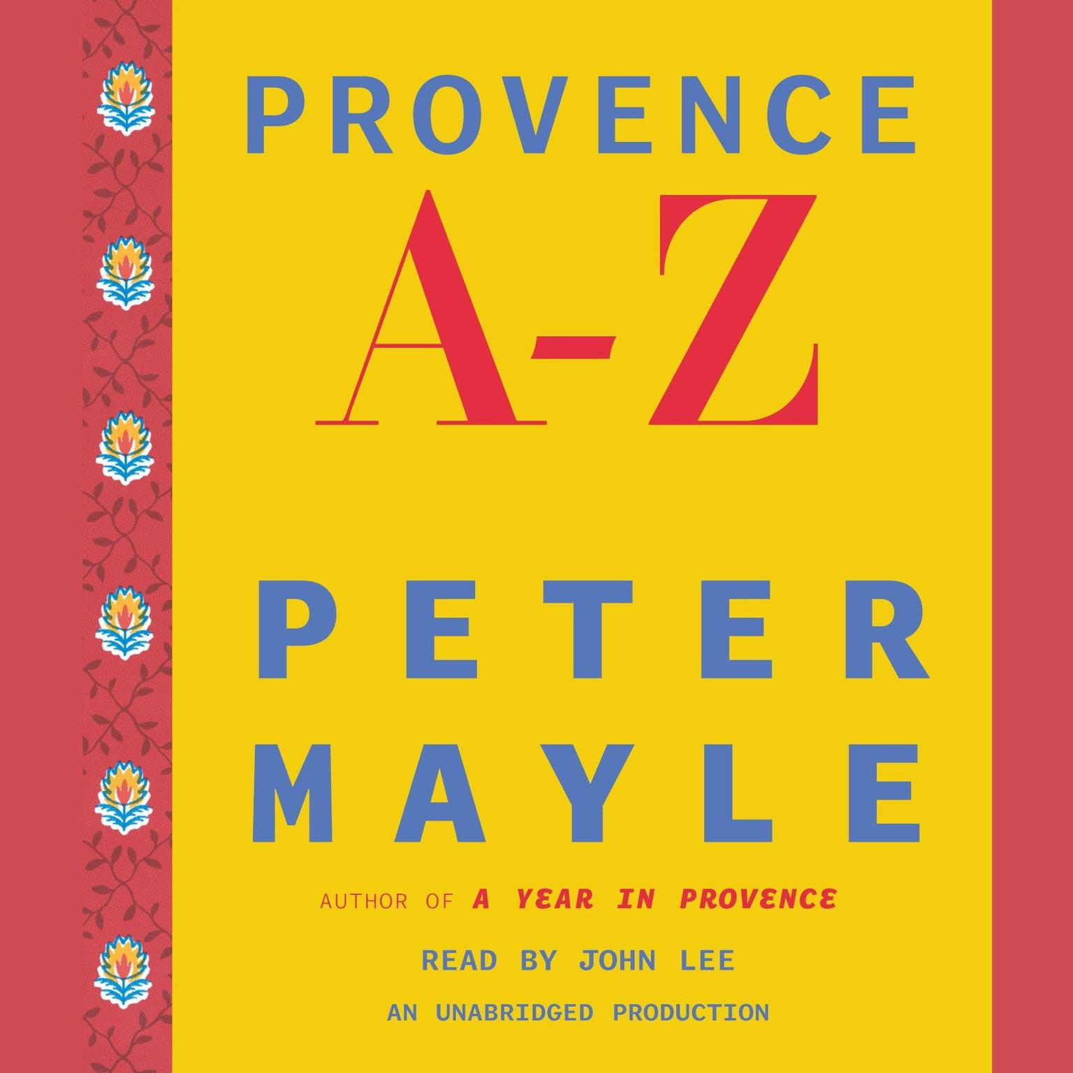 Printable Provence A–Z Audiobook Cover Art