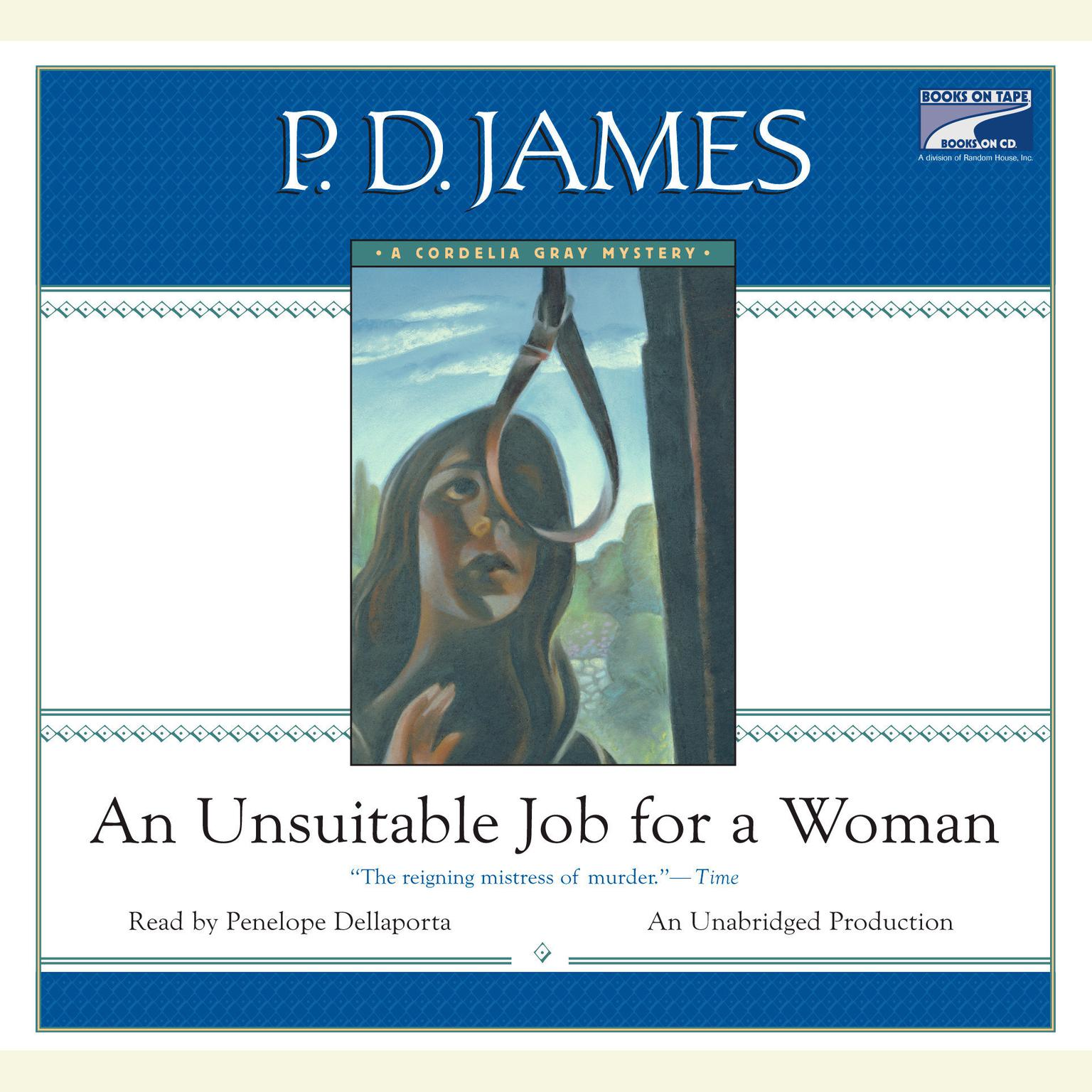 Printable An Unsuitable Job for a Woman Audiobook Cover Art
