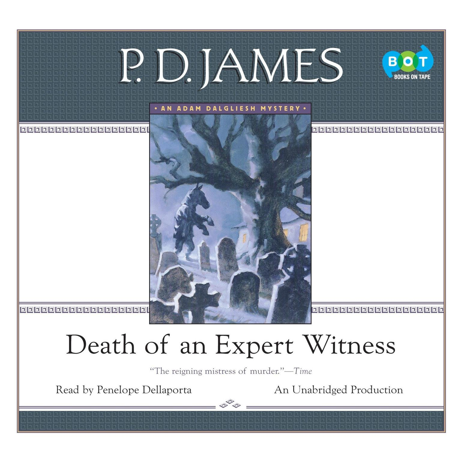 Printable Death of an Expert Witness Audiobook Cover Art