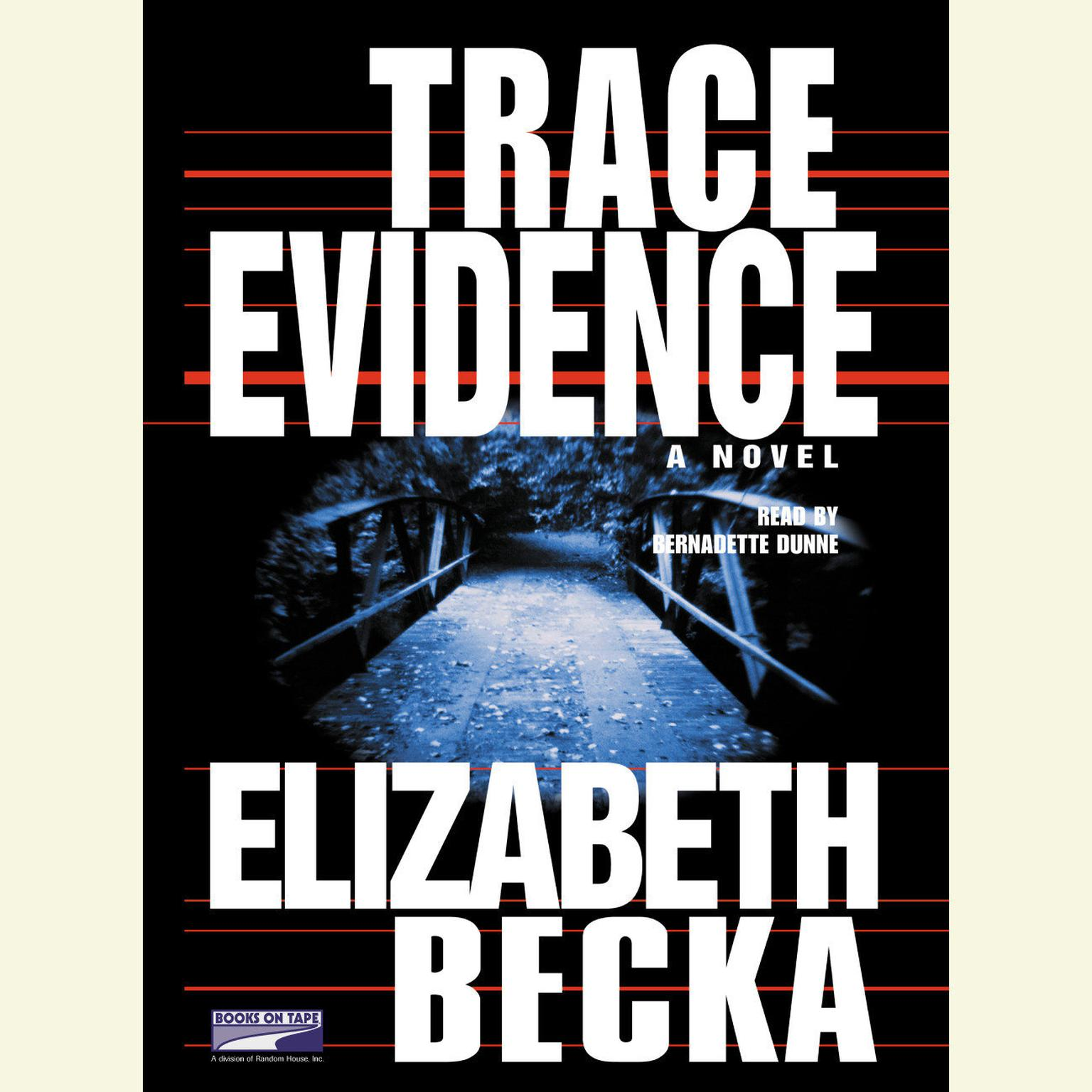 Printable Trace Evidence Audiobook Cover Art