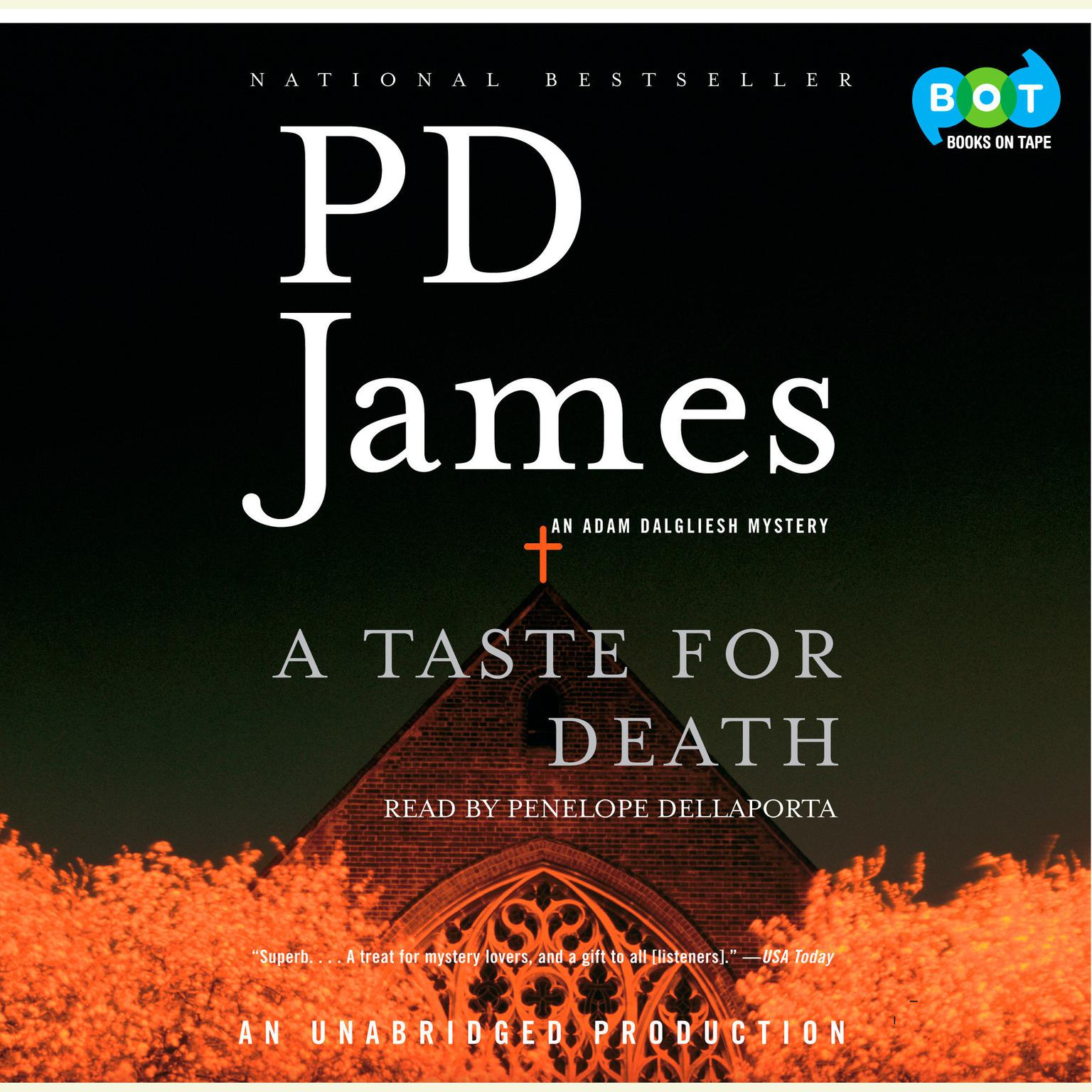 Printable A Taste for Death Audiobook Cover Art