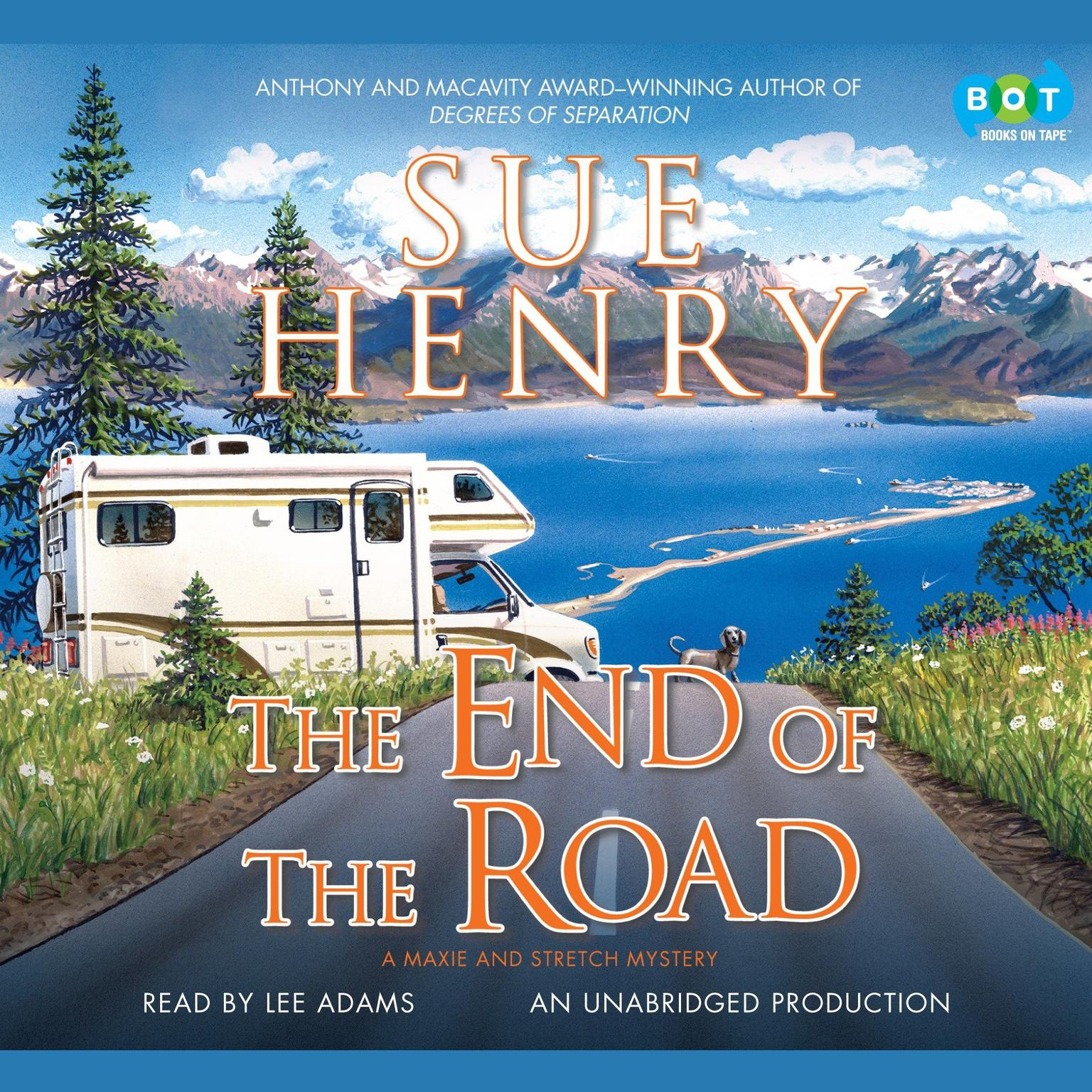 Printable The End of the Road: A Maxie and Stretch Mystery Audiobook Cover Art