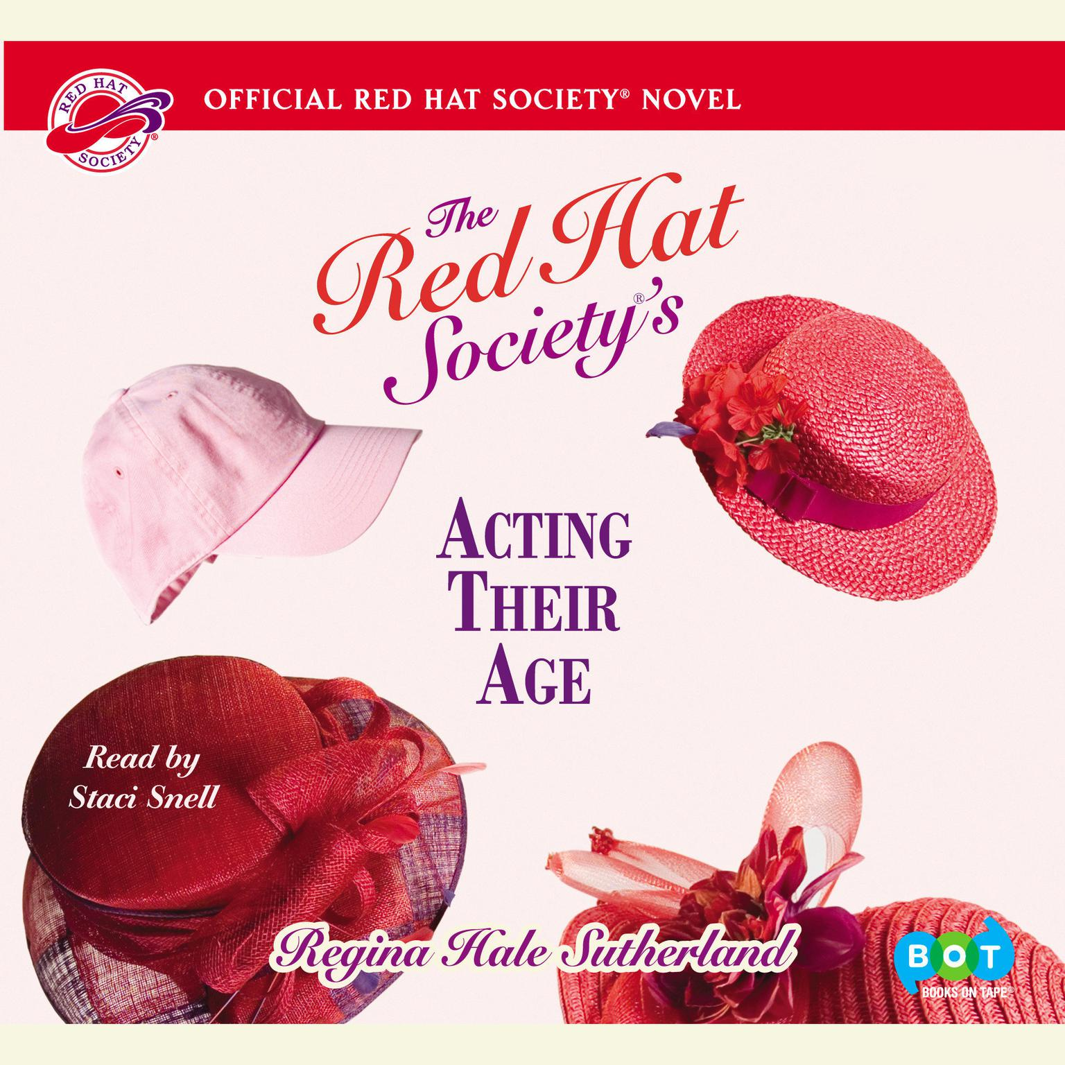 Printable Red Hat Society's Acting Their Age Audiobook Cover Art