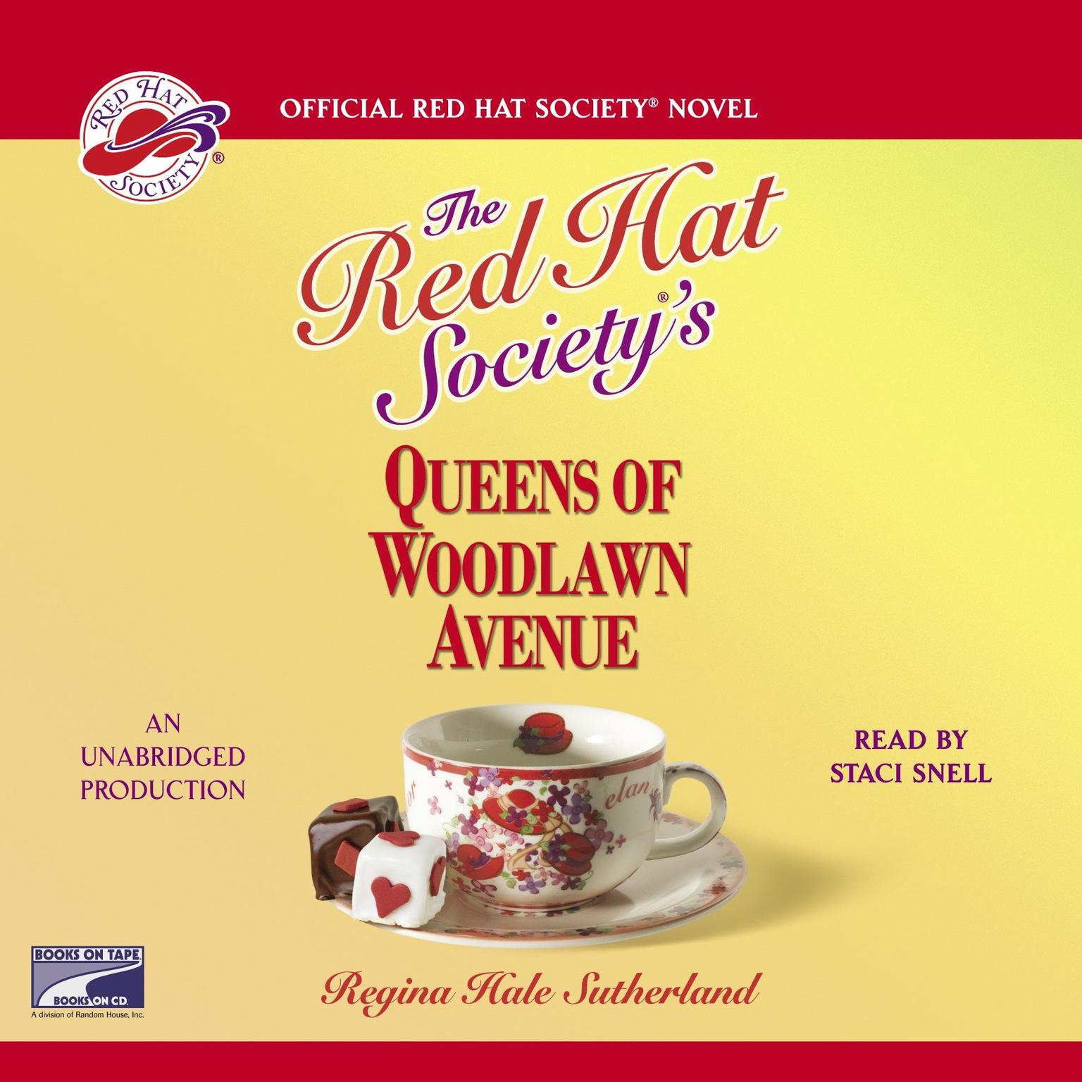 Printable The Red Hat Society's Queens of Woodlawn Avenue Audiobook Cover Art