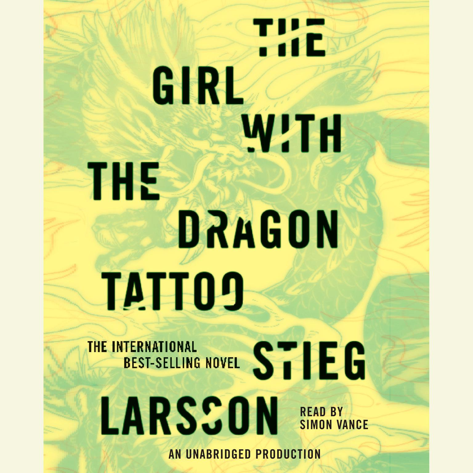 Printable The Girl with the Dragon Tattoo Audiobook Cover Art