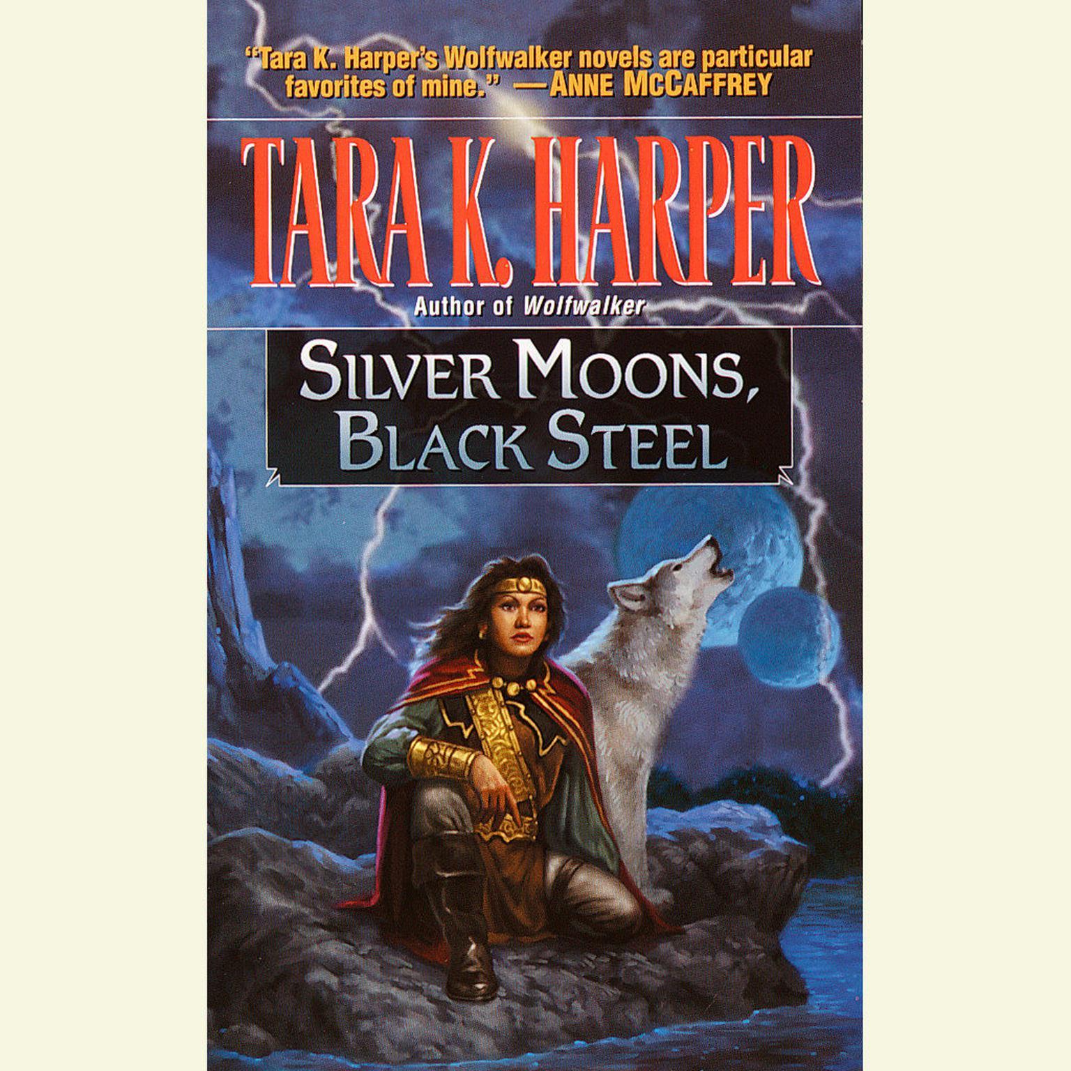 Printable Silver Moons, Black Steel Audiobook Cover Art
